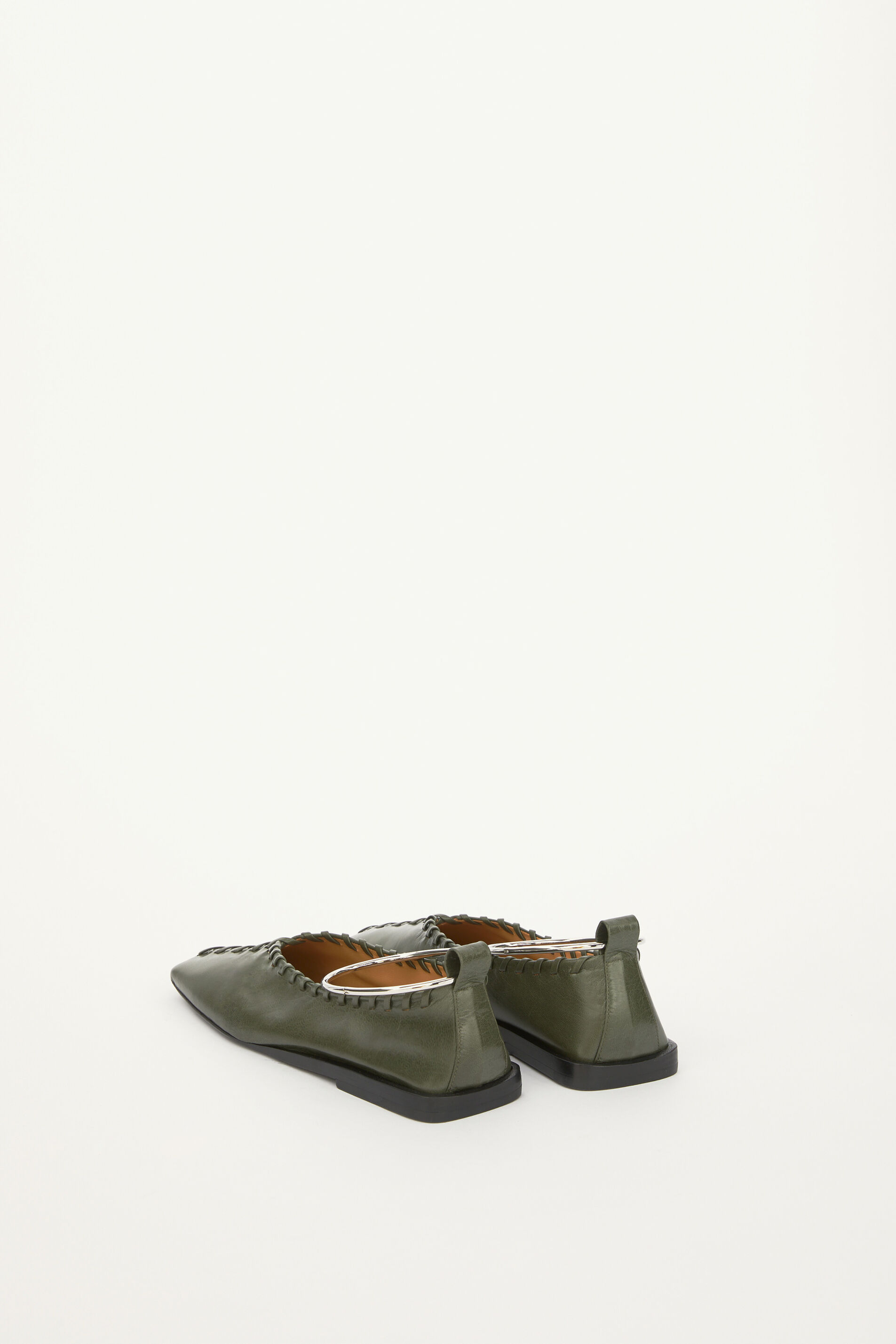 Ballerinas, dark green, large