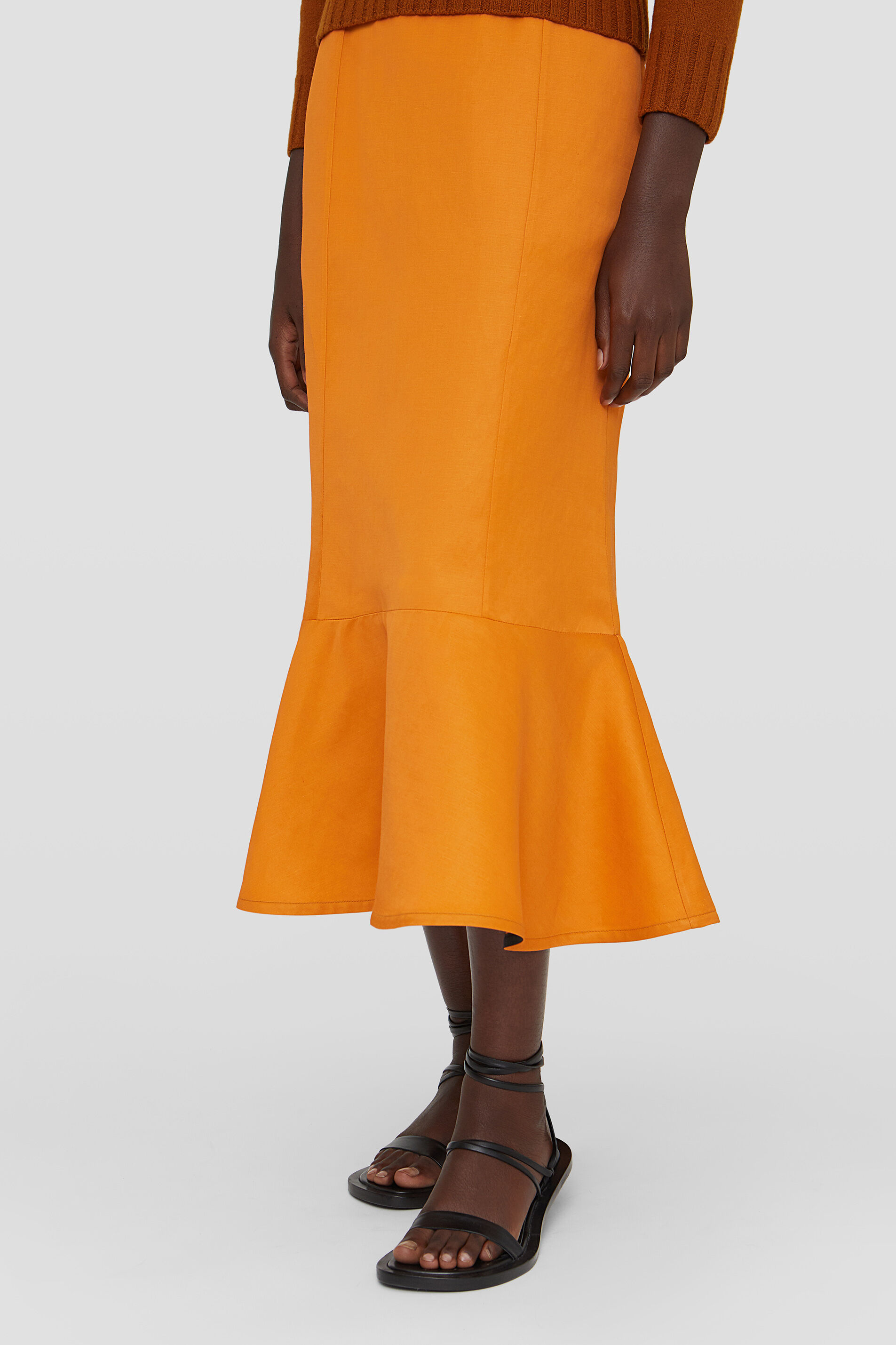 Skirt, pastel orange, large