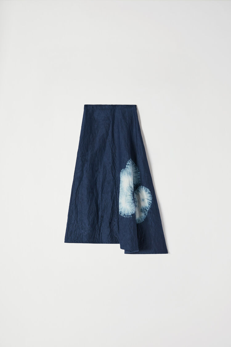 Asymmetrical Skirt, blue, large
