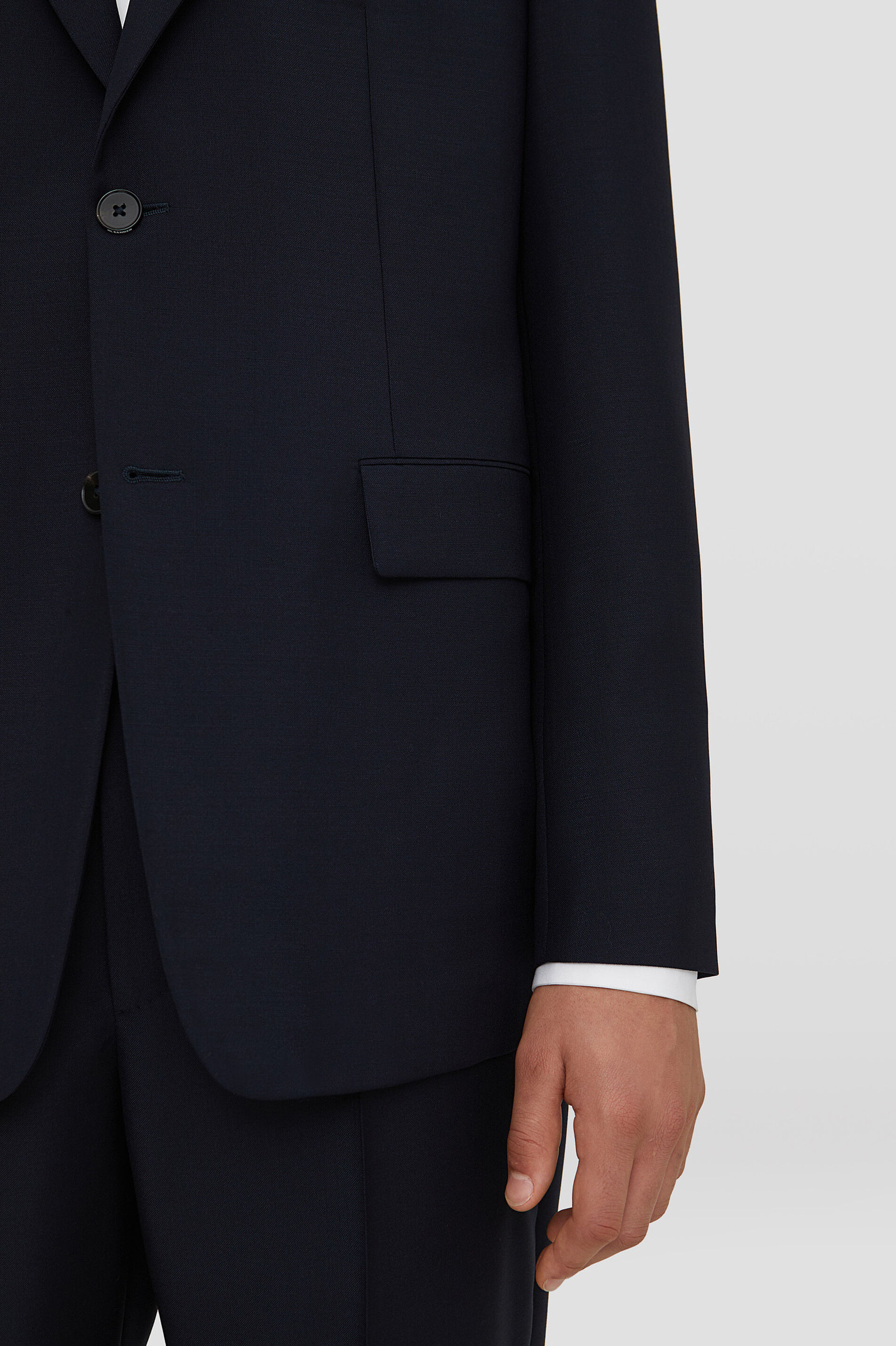 Suit, dark blue, large