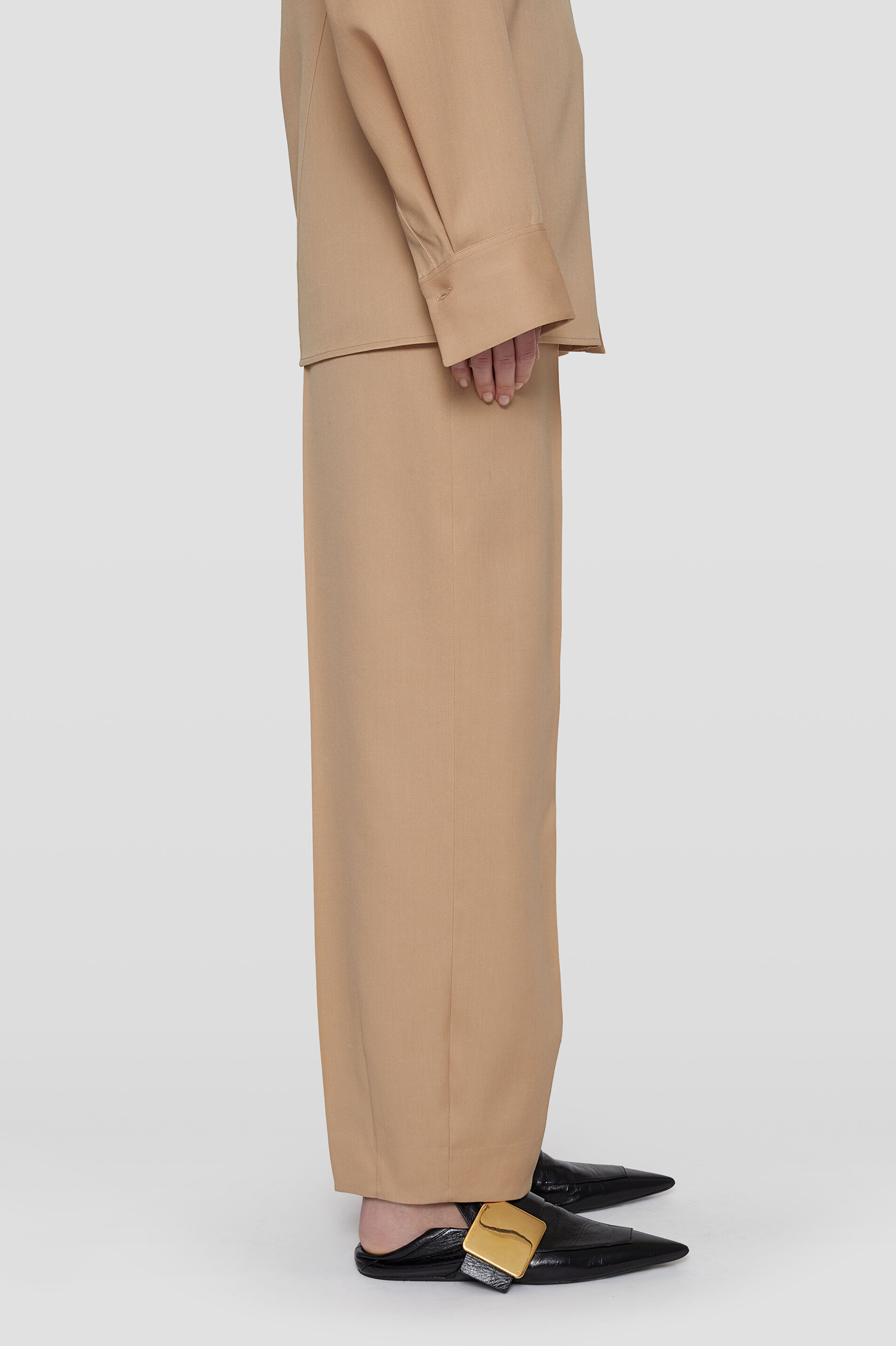 Tapered Trousers, dark beige, large