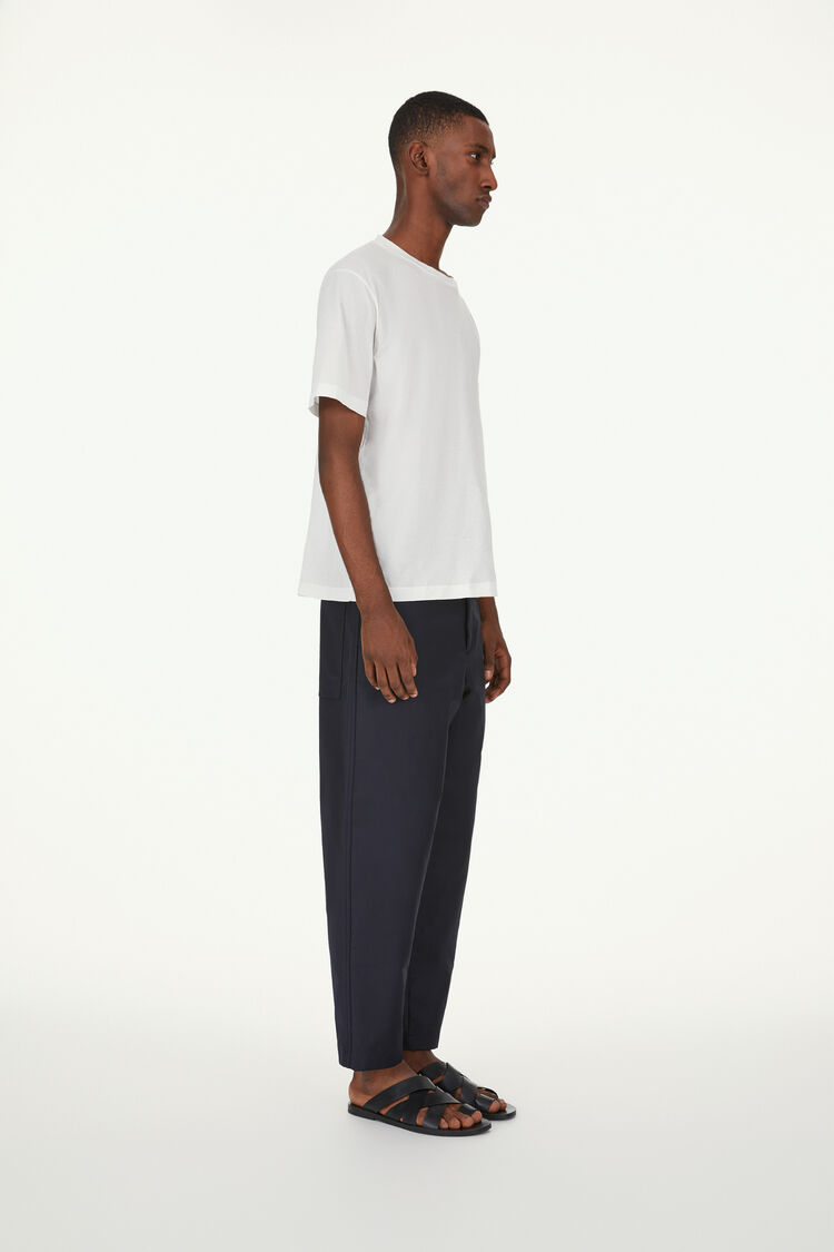 Cropped Trousers, dark blue, large