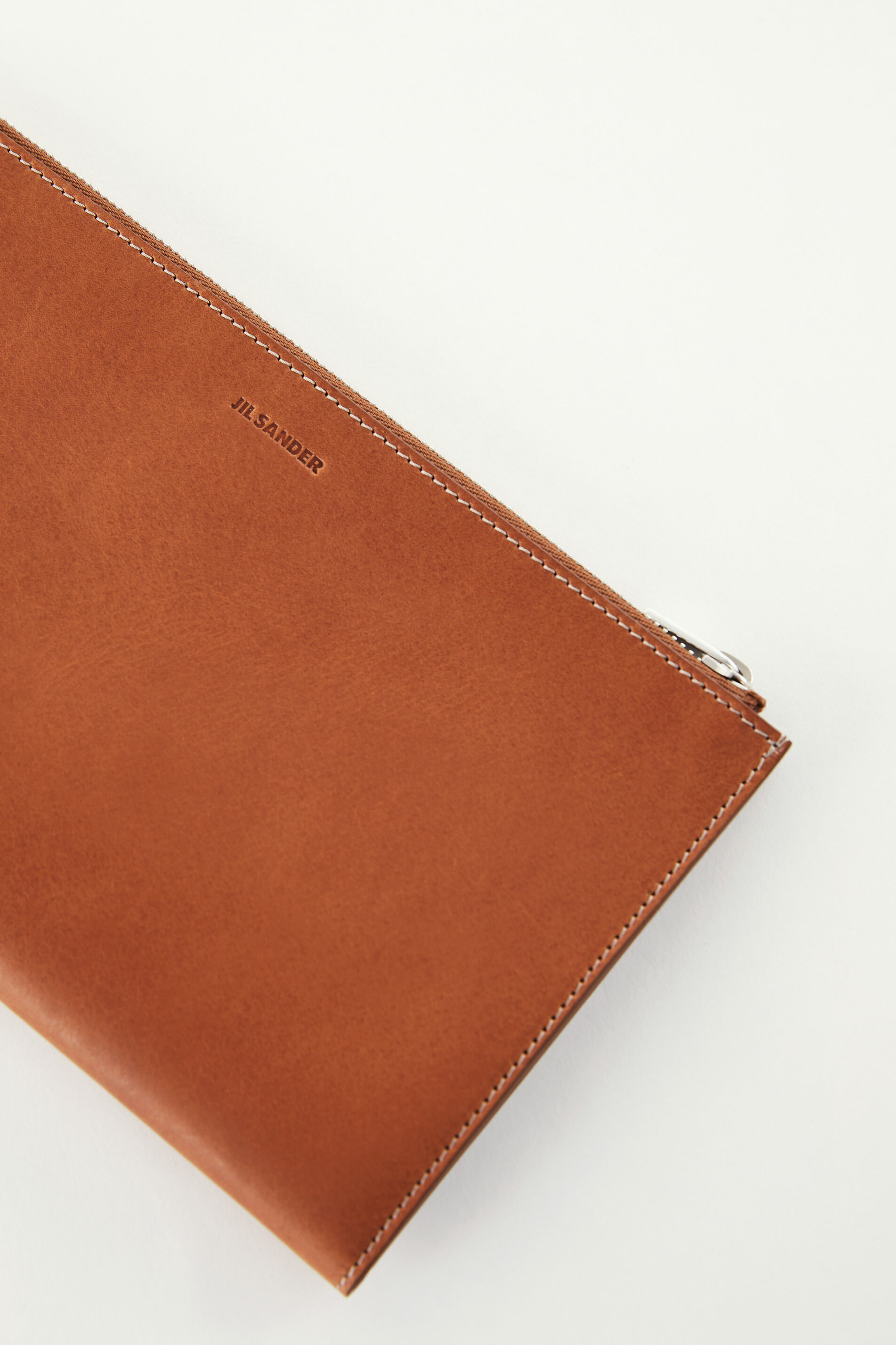 Zip Document Holder, brown, large