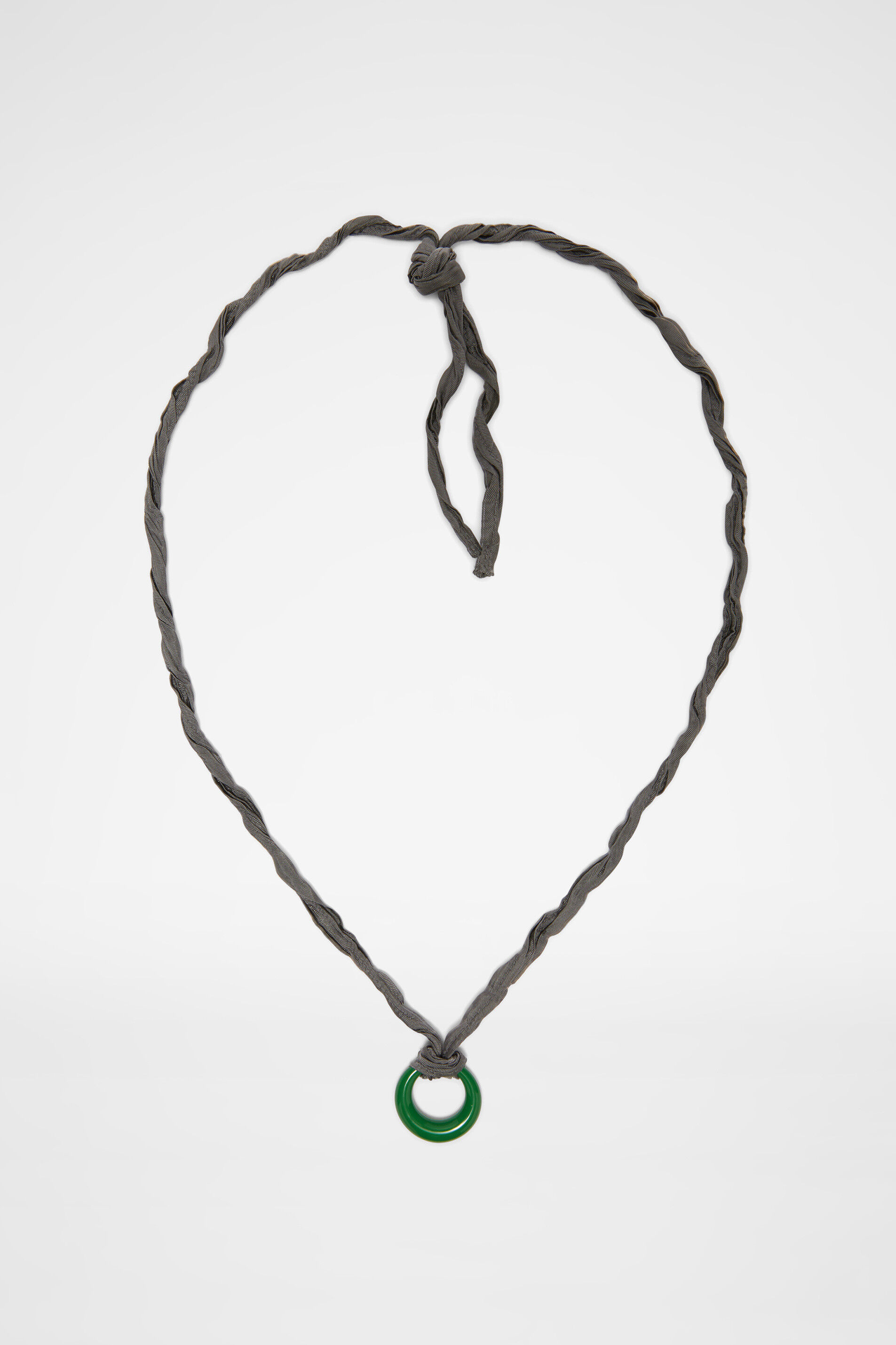 Necklace, green, large