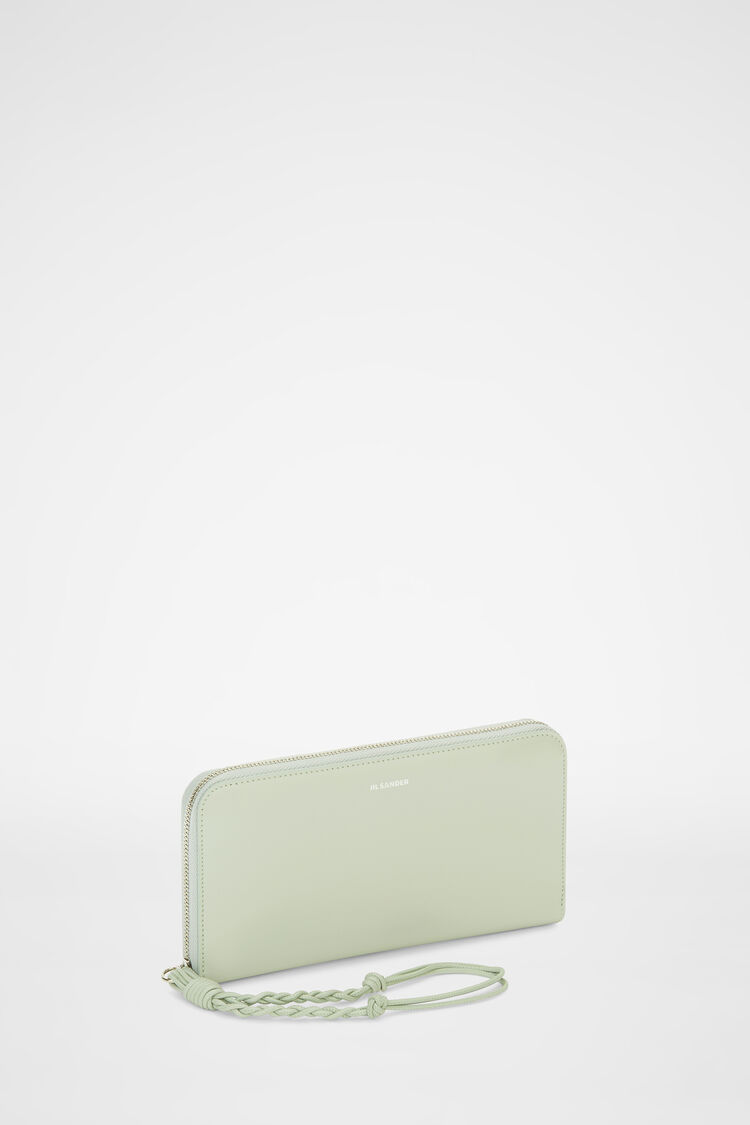 Zip Around Wallet, pastel green, large