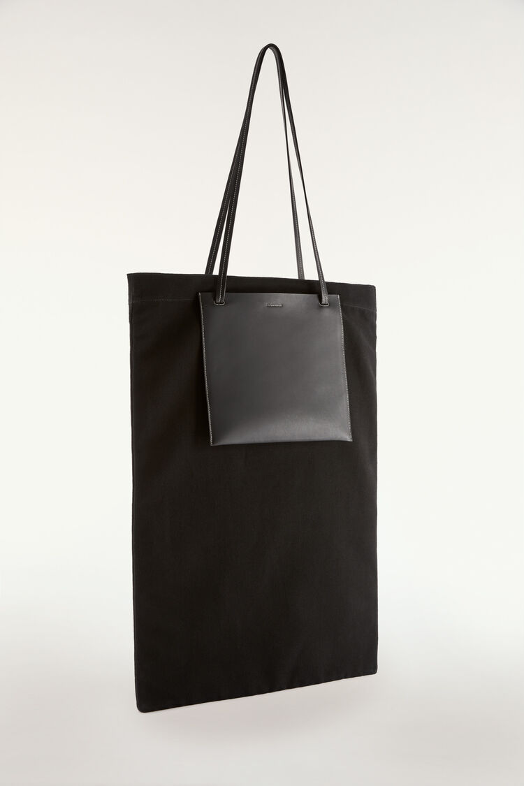 Pocket Flat Shopper Large, black, large