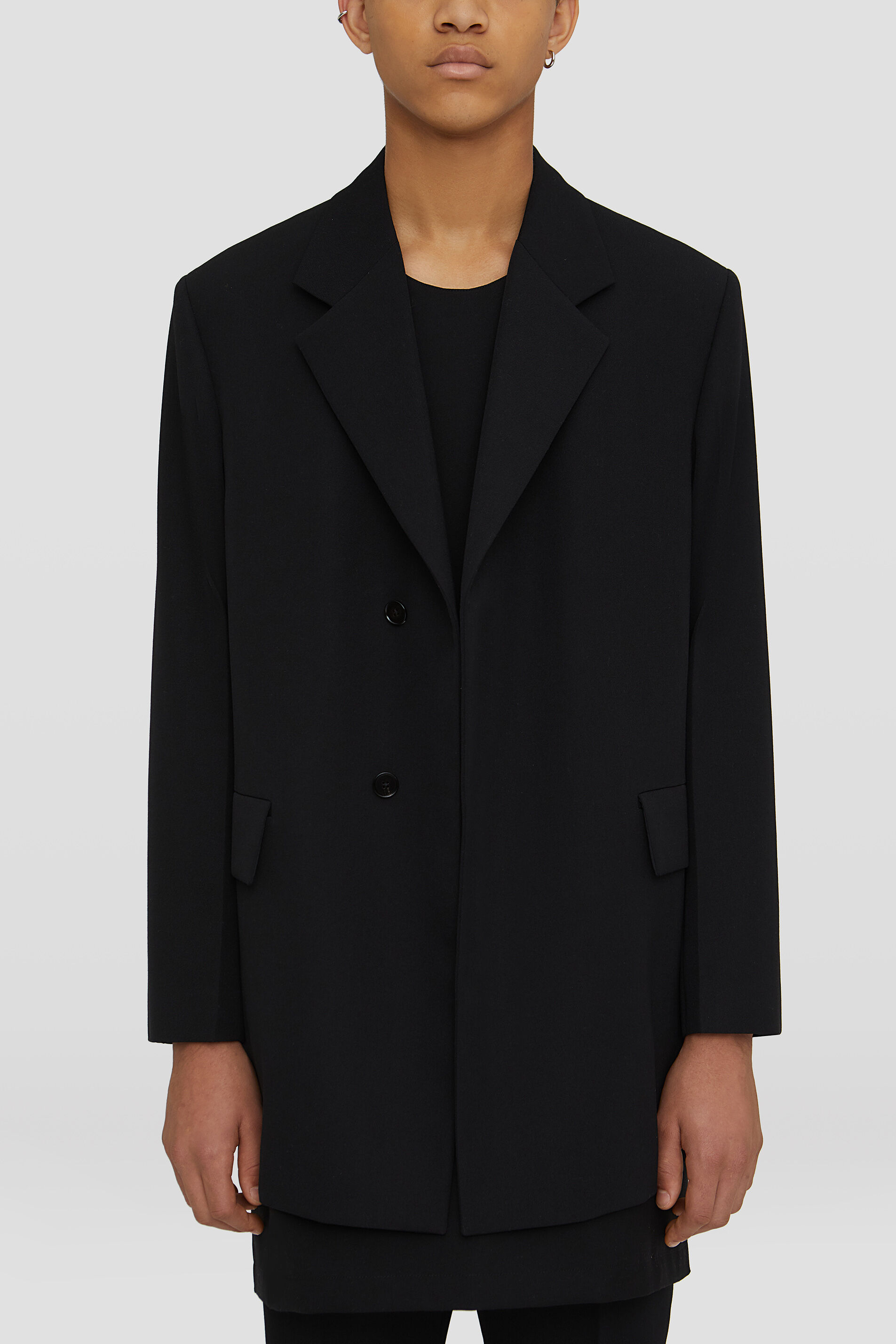 Tailored Jacket, black, large