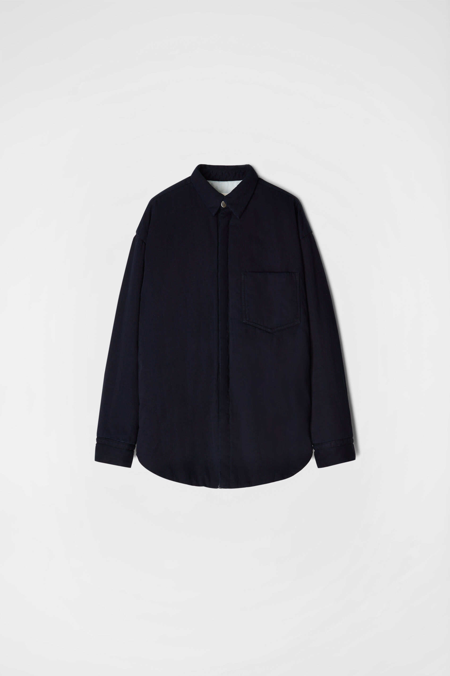 Padded Shirt, dark blue, large