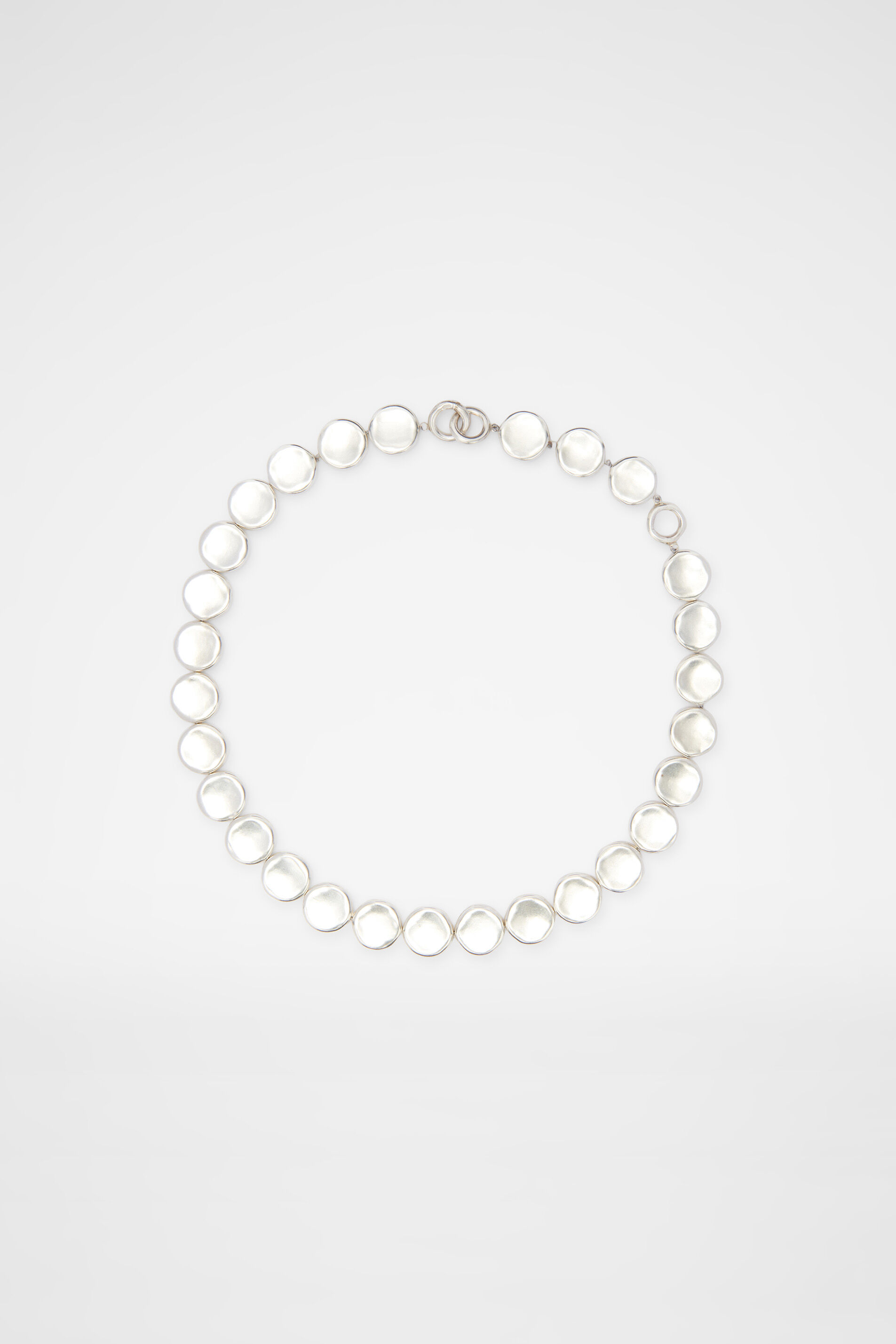 Necklace, silver, large