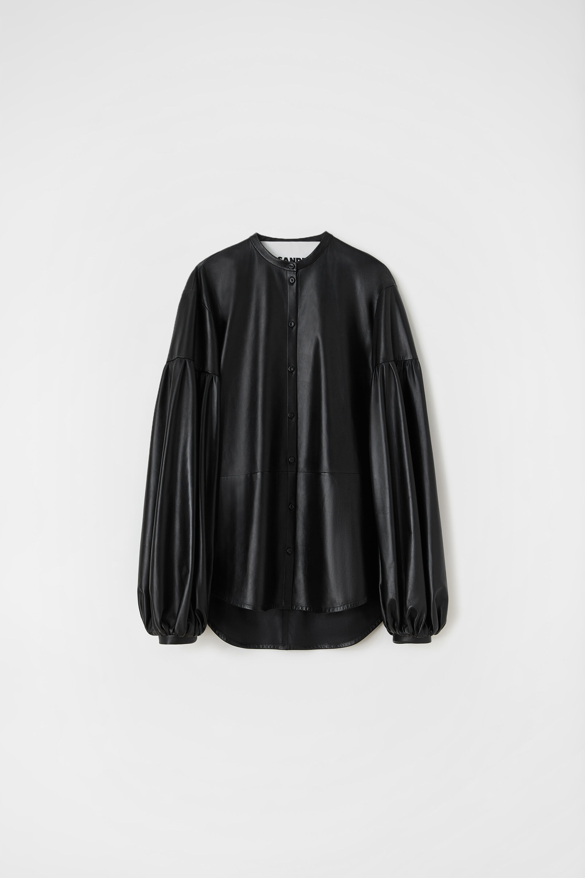 Leather Shirt, black, large