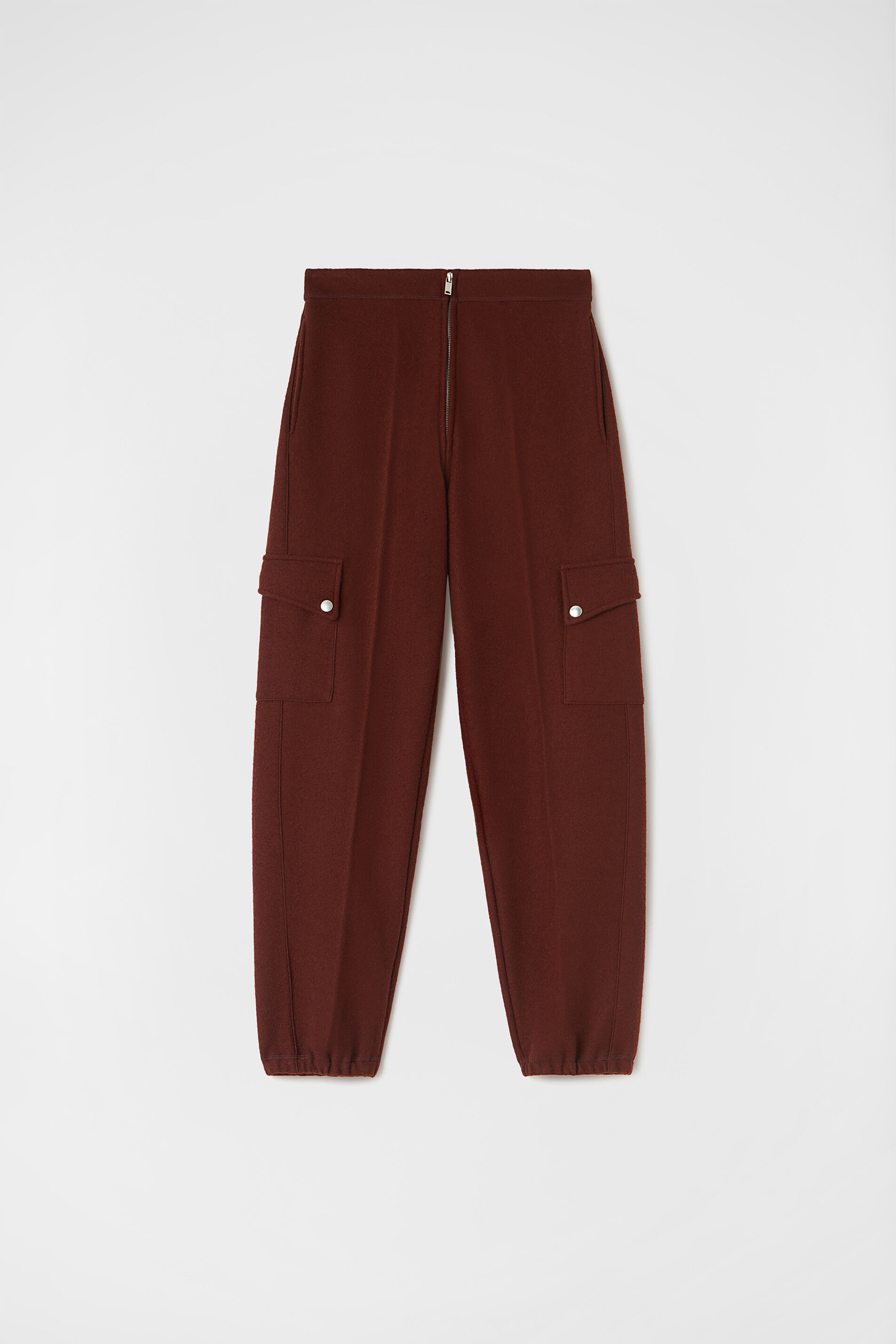 Tapered Trousers, dark red, large