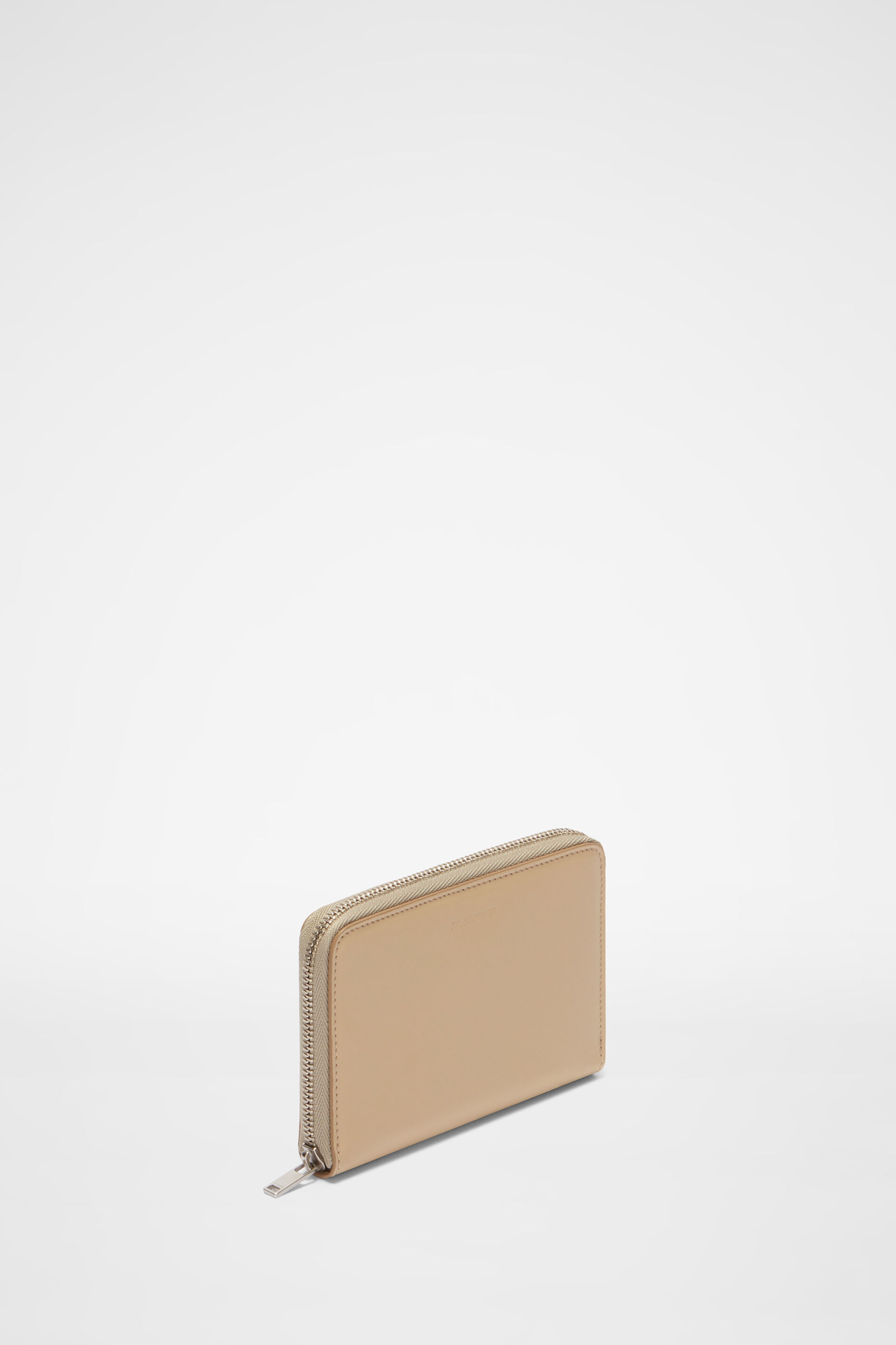 Zip Around Pocket Wallet, dark beige, large