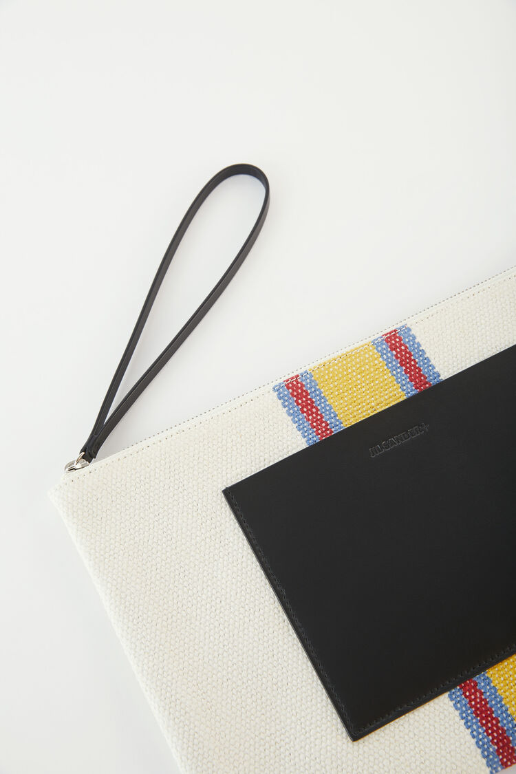Zip Pouch, white, large