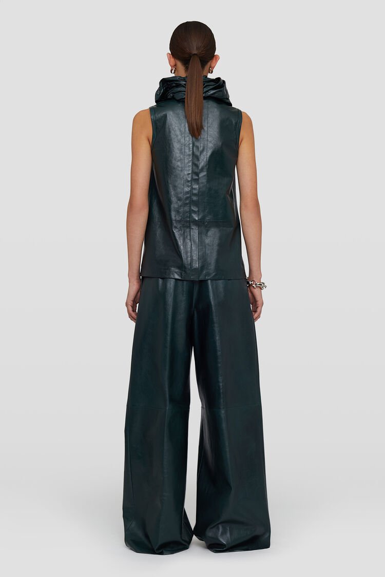 Leather Top, dark green, large