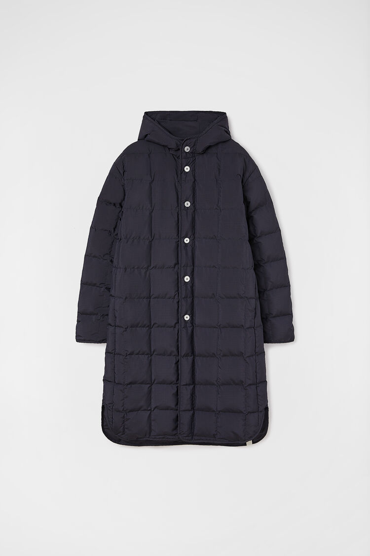 Quilted Down Coat, dark blue, large