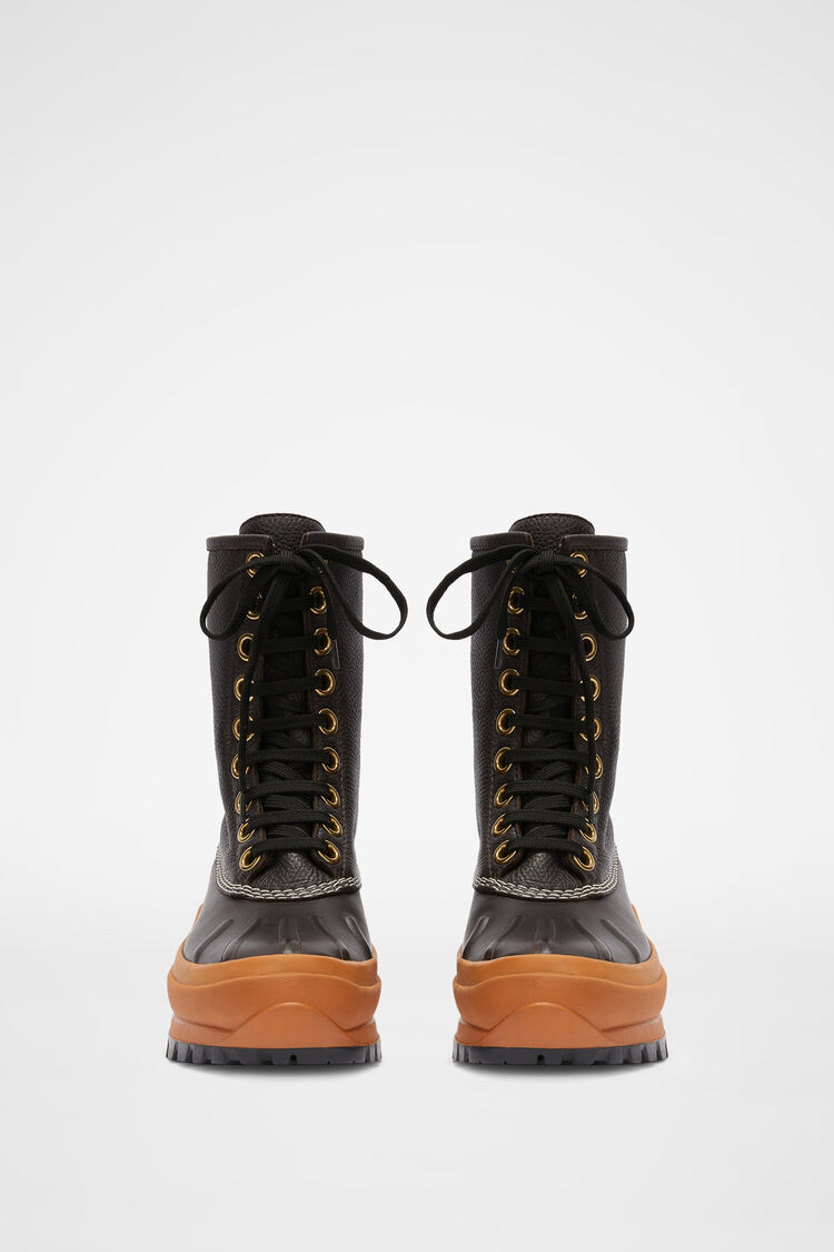 Lace-up Hiking Boots, dark brown, large