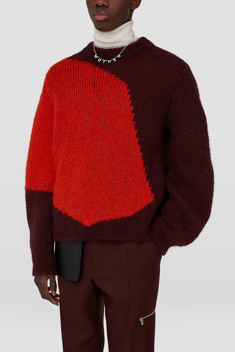 Chunky Sweater, pastel red, large