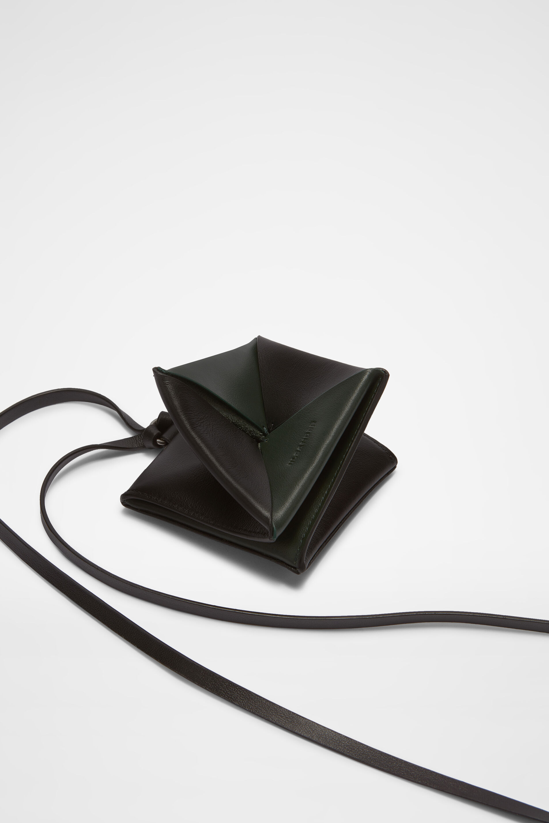 Wallet Necklace, dark green, large
