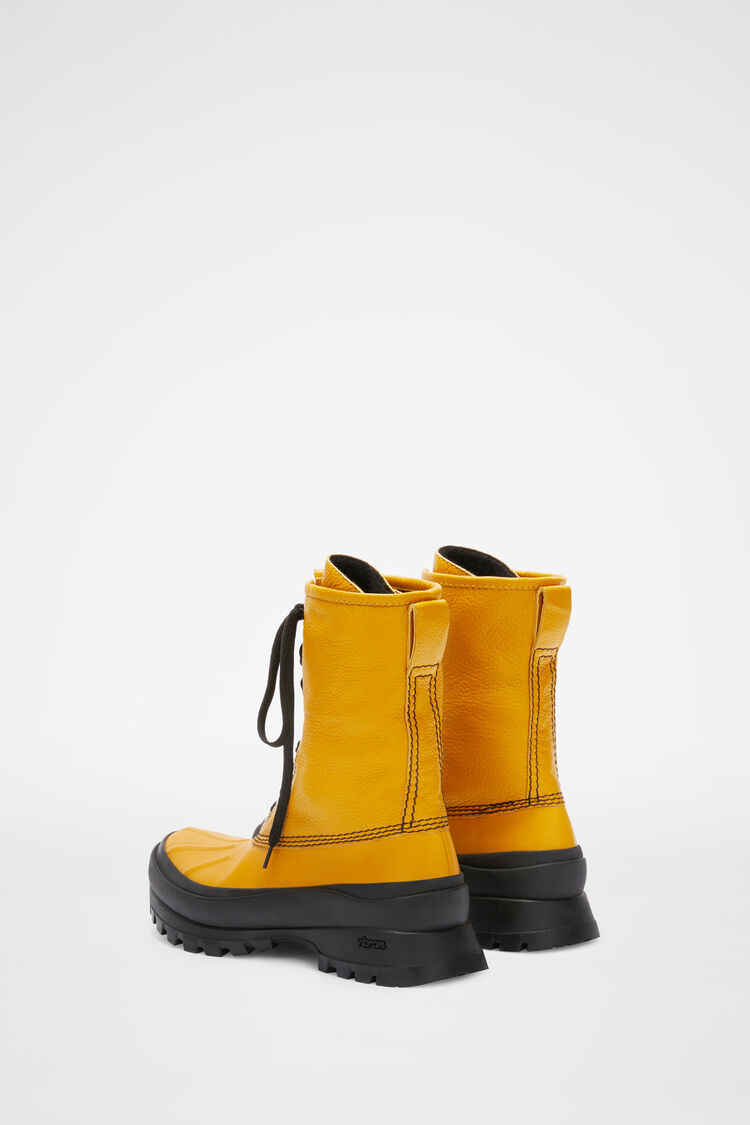 Lace-up Hiking Boots, gold, large