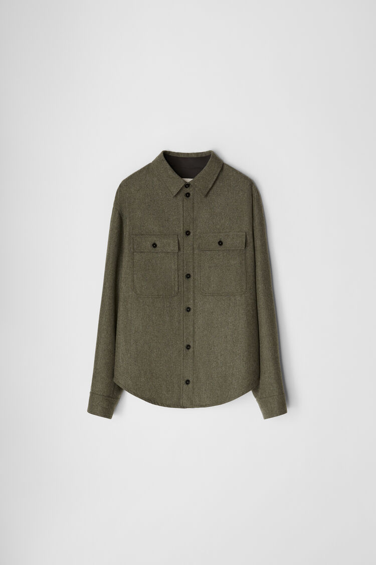 Shirt, dark green, large