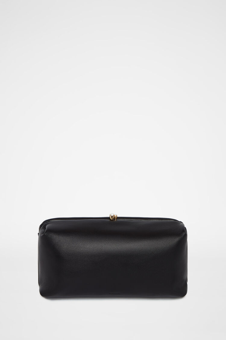 Clutch, black, large