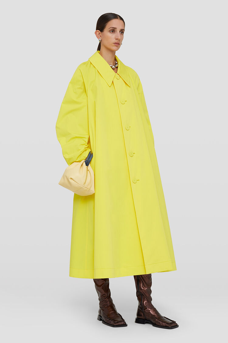 Trench, giallo, large