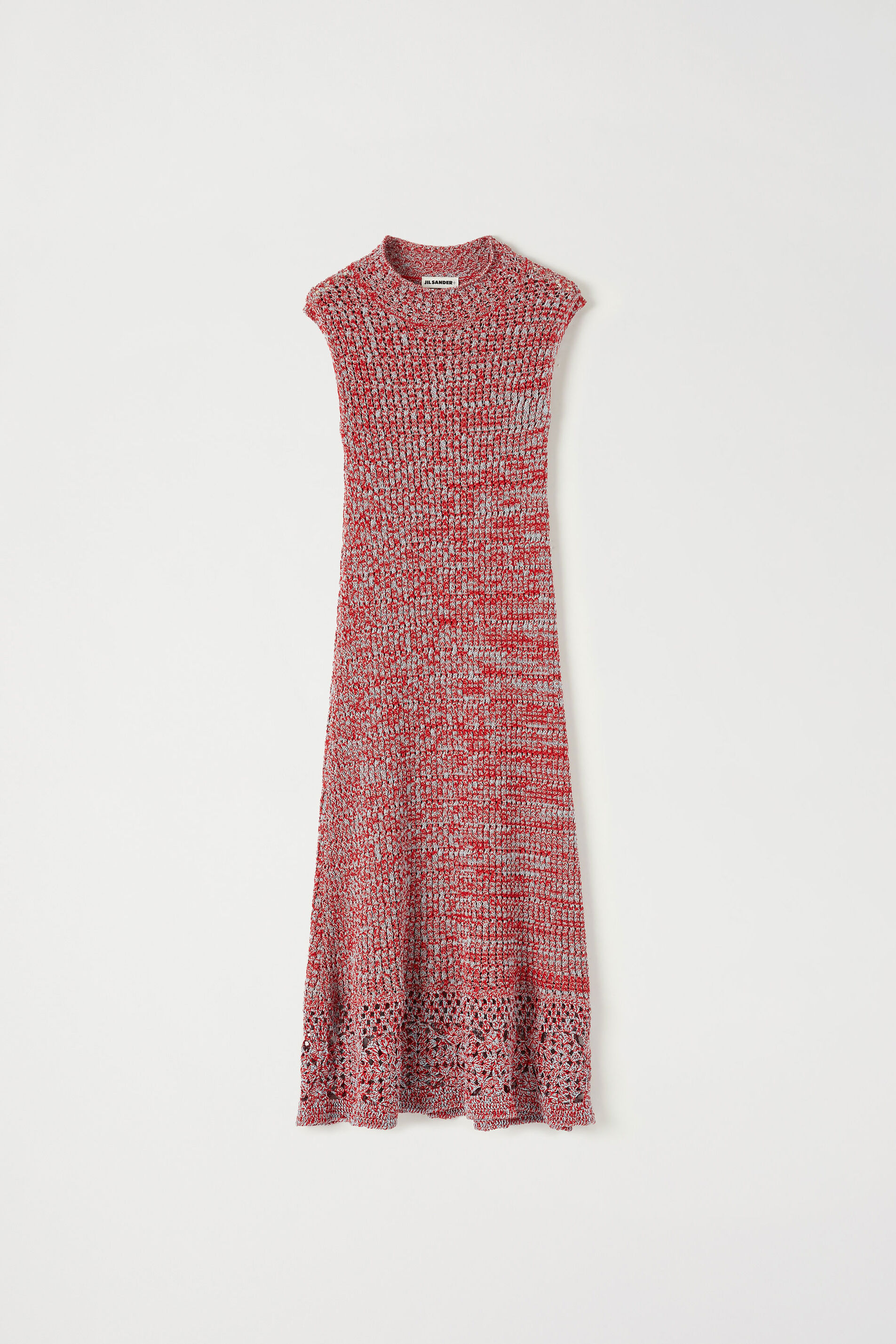 Knit Dress, red, large