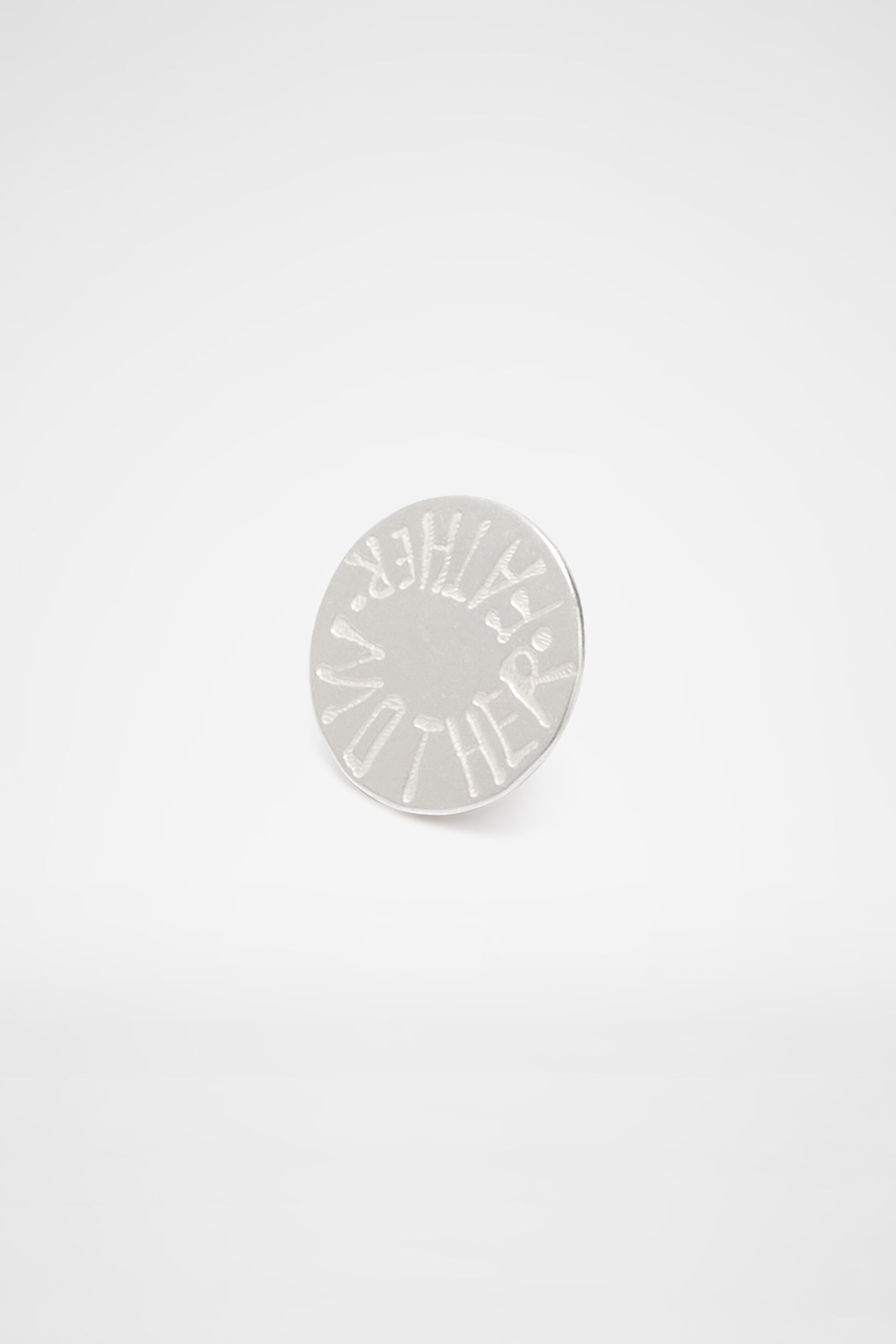 Lettering Brooch, silver, large