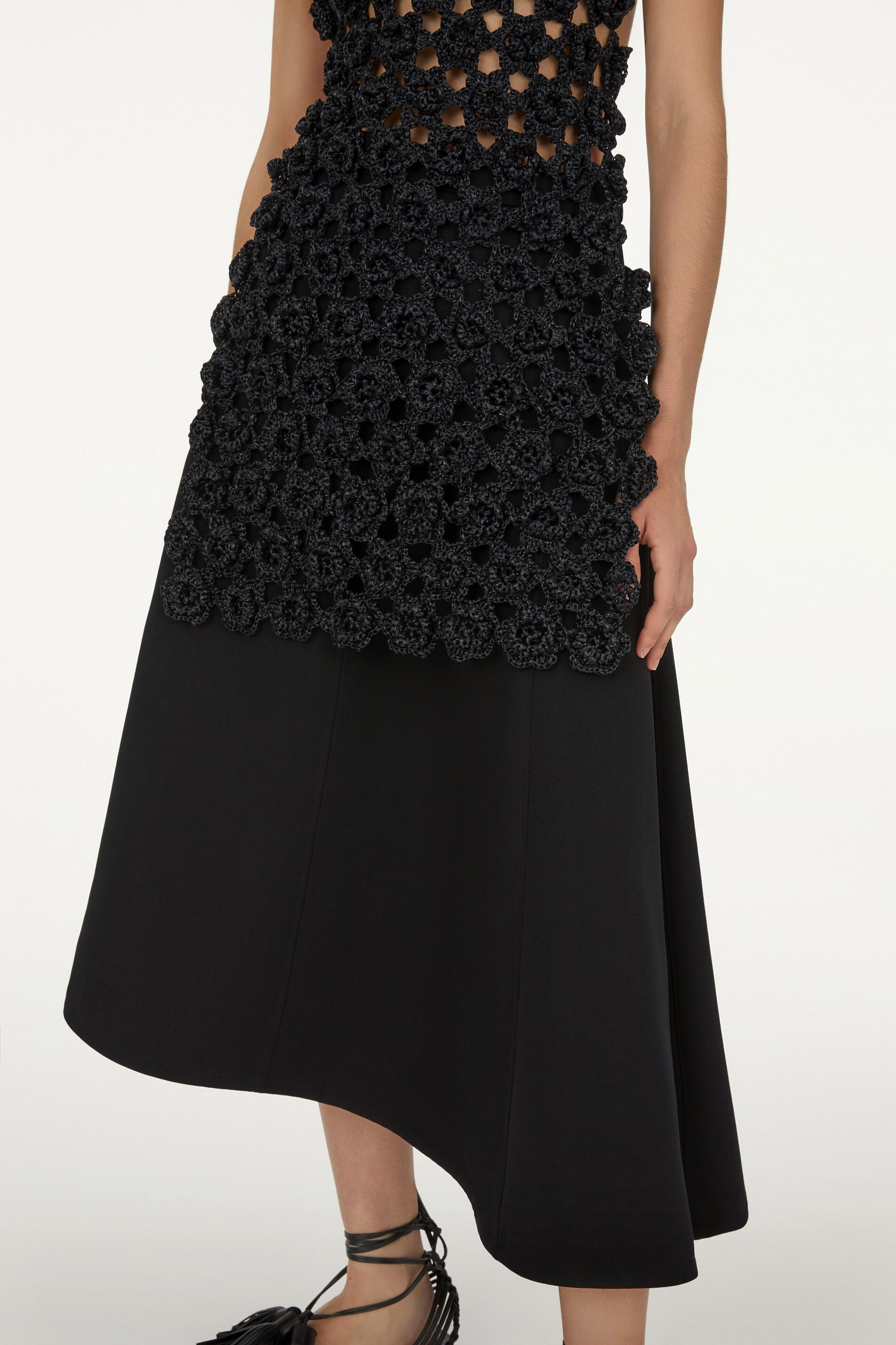 Asymmetrical Skirt, black, large