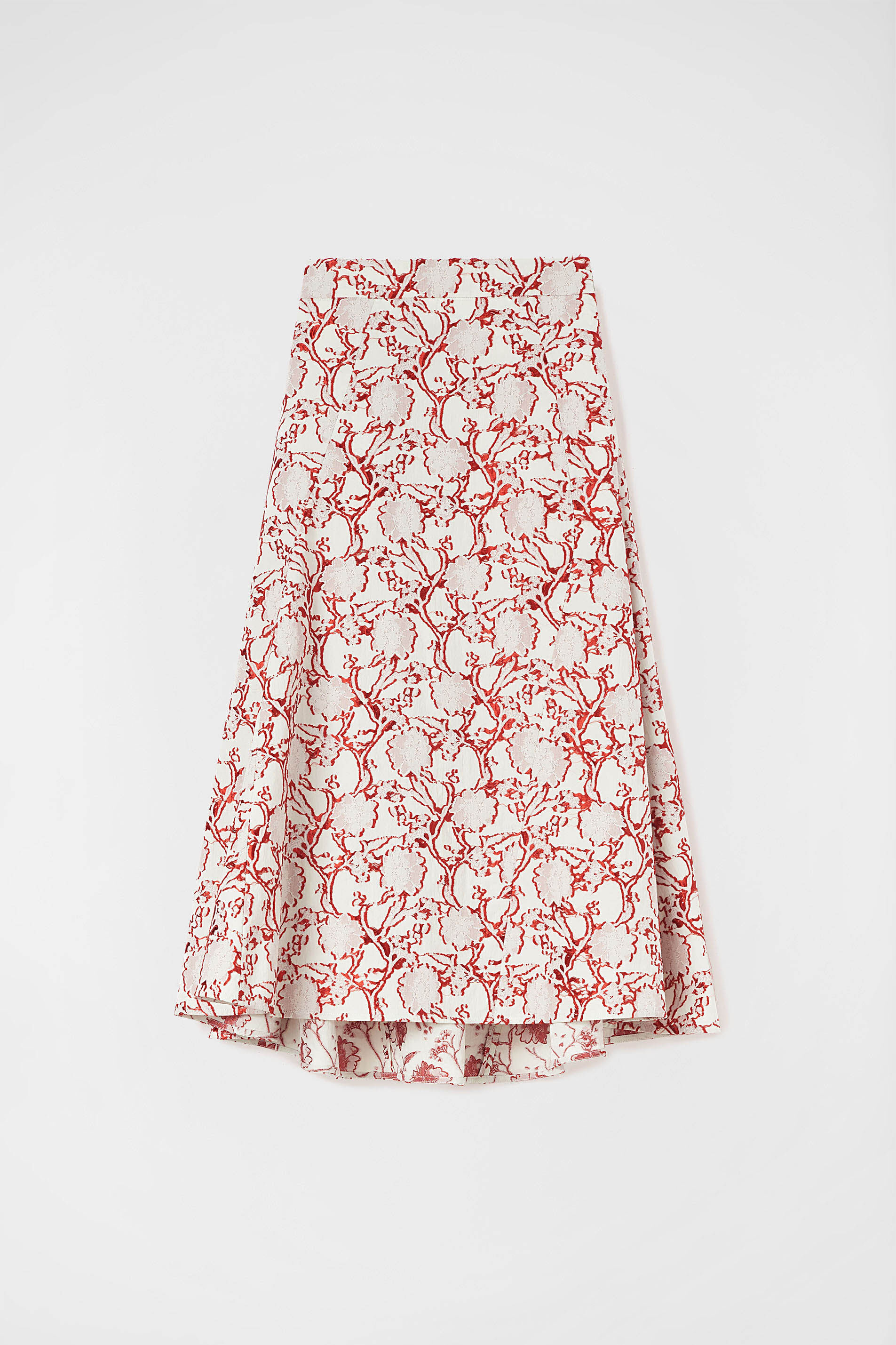 Flared Skirt, pastel red, large