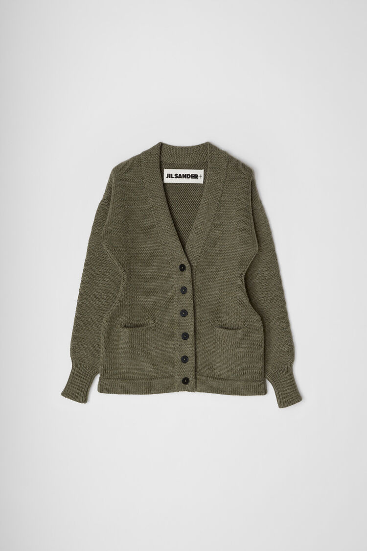Cardigan, green, large
