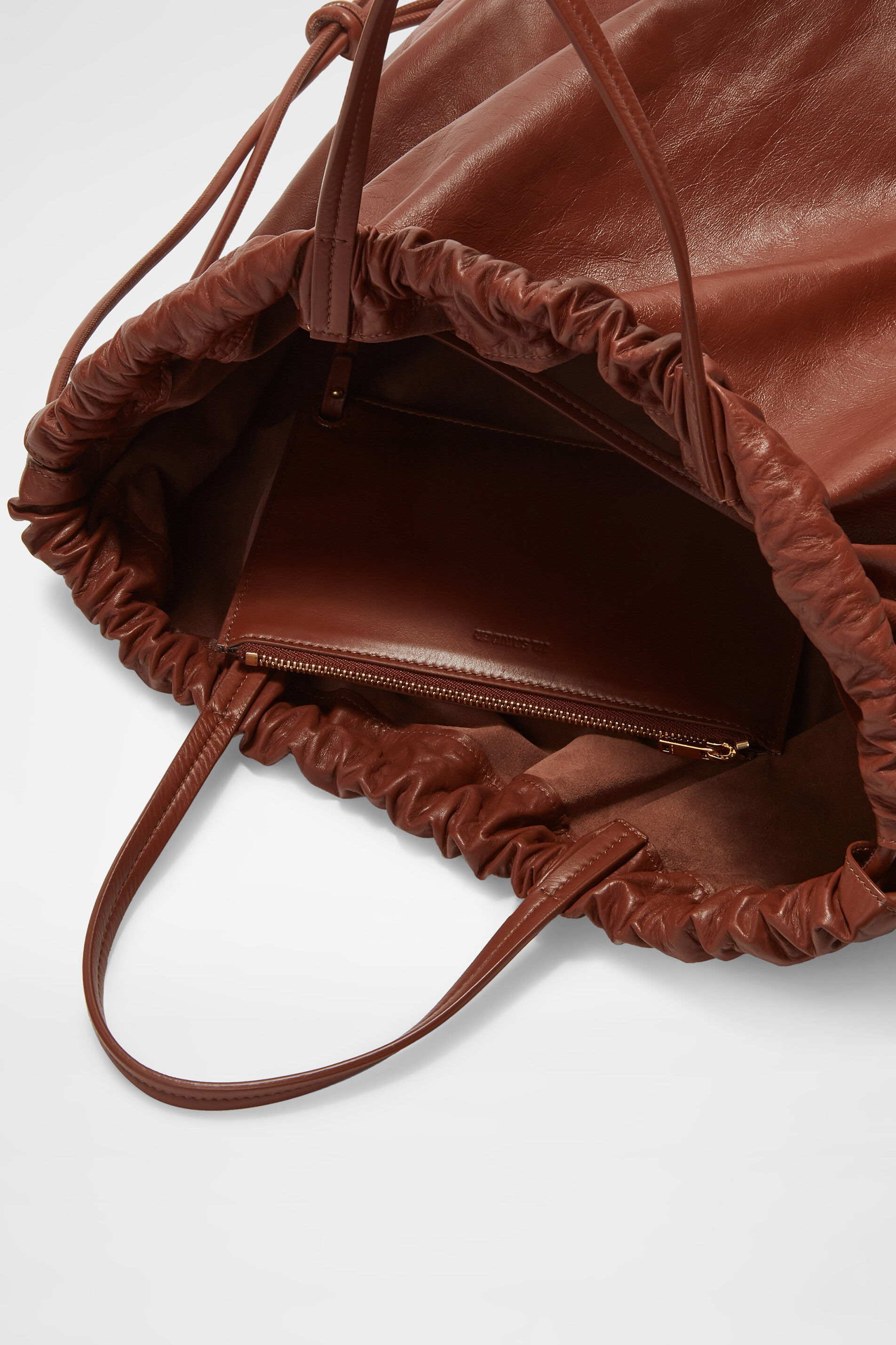 Drawstring Backpack Tote, copper, large