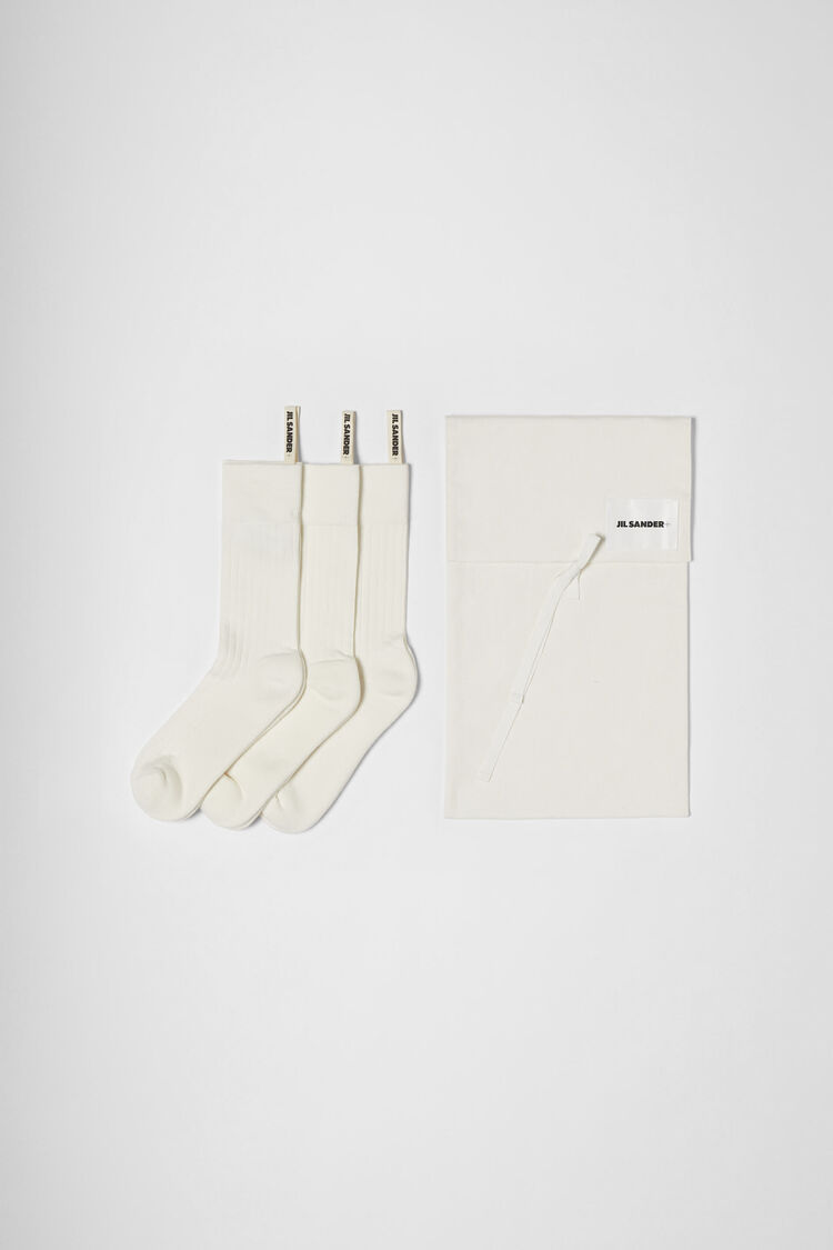 3-Pack Socks Set, white, large