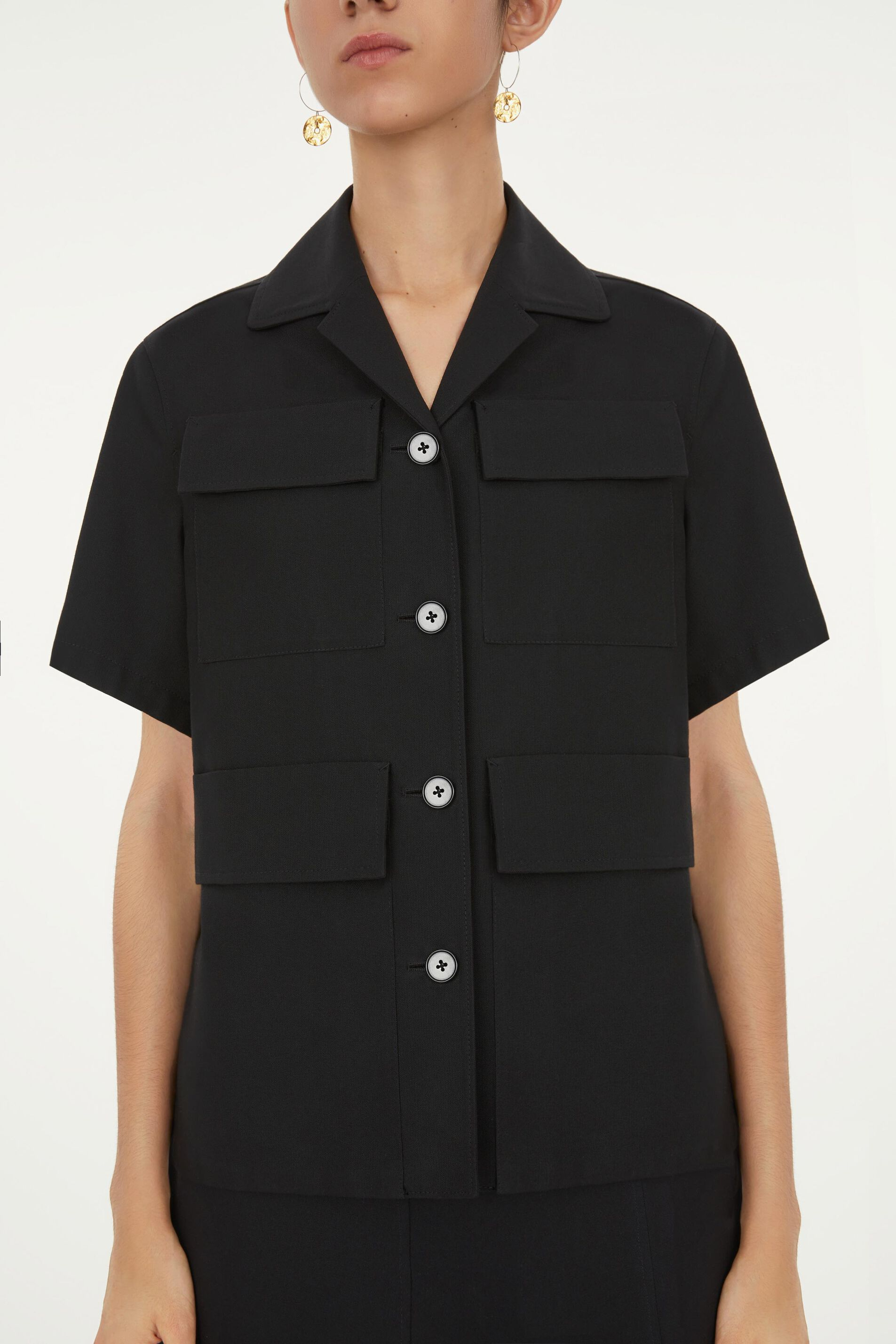 Shirt Jacket, black, large