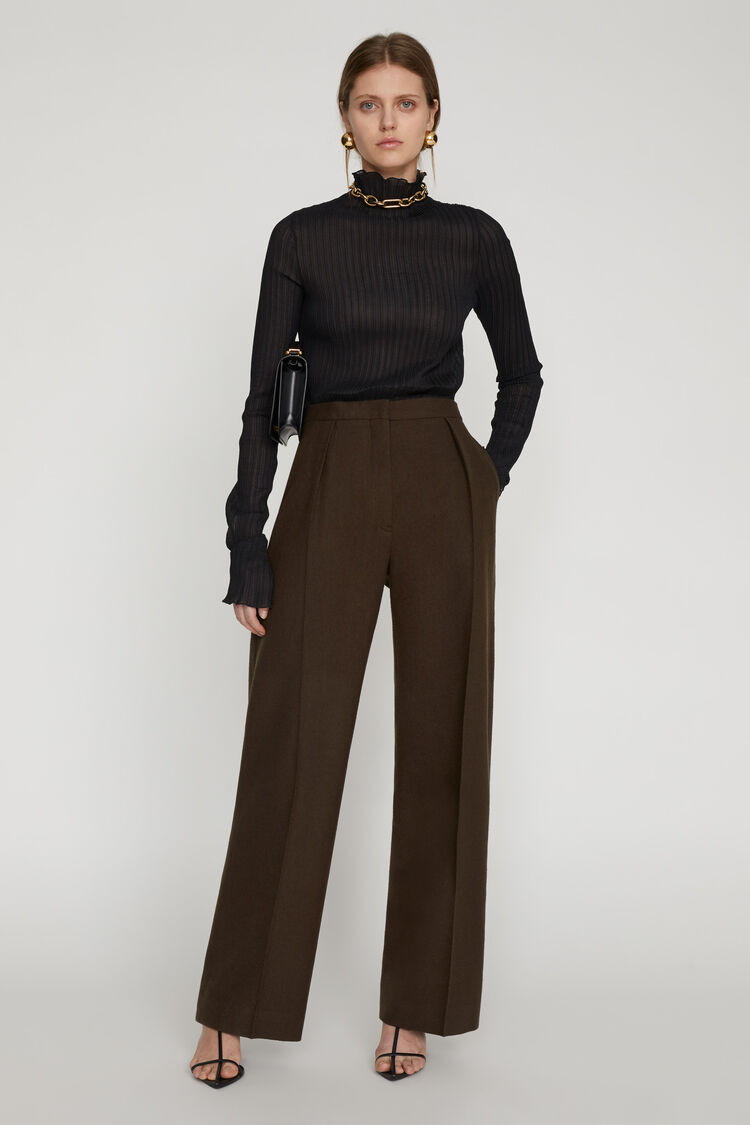 Trousers, dark green, large