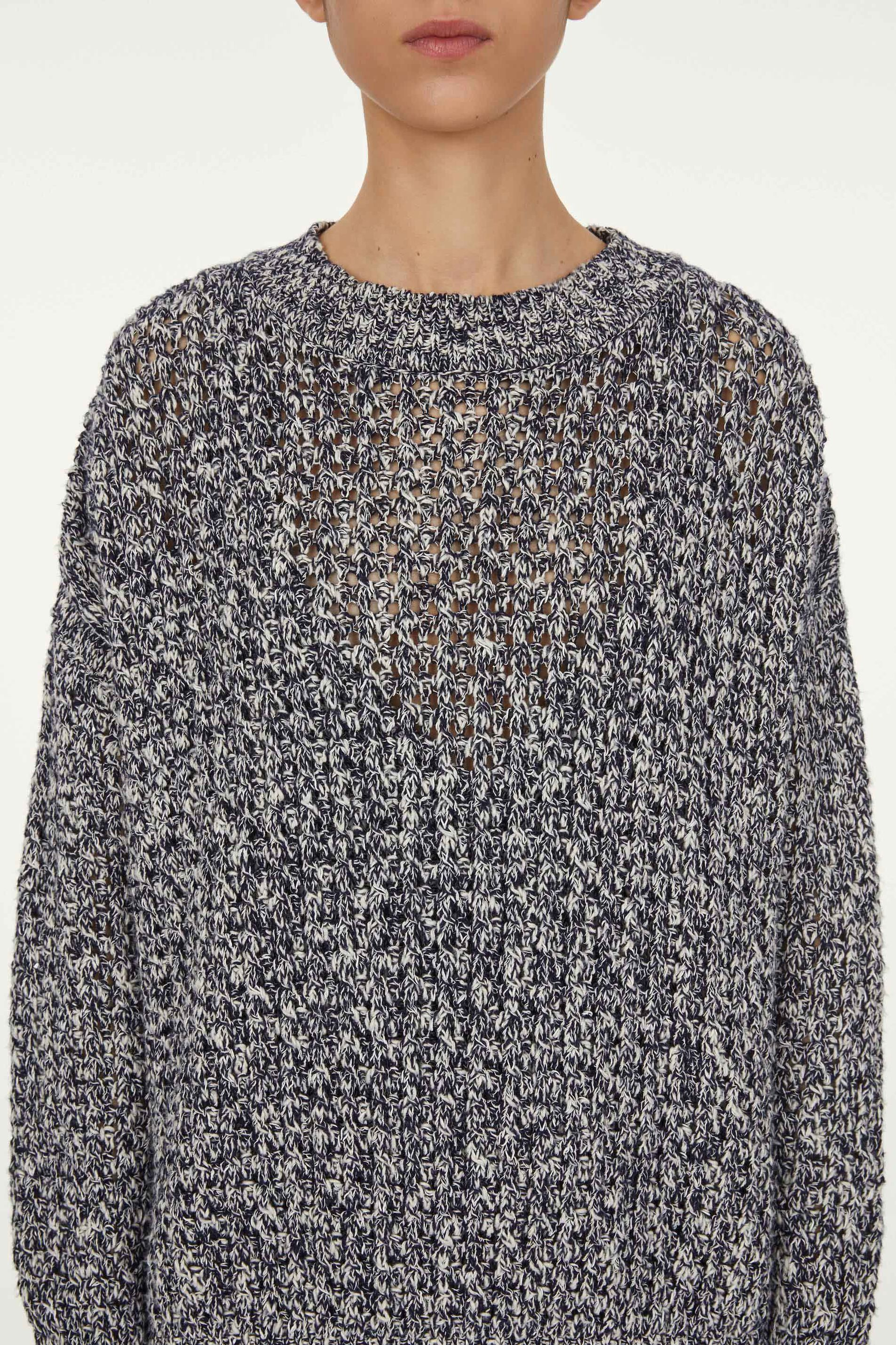 Oversize Pullover, blue, large