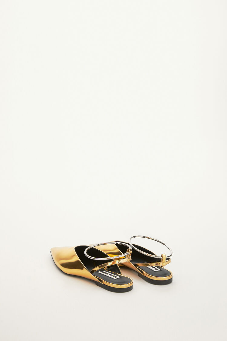 Mules, gold, large