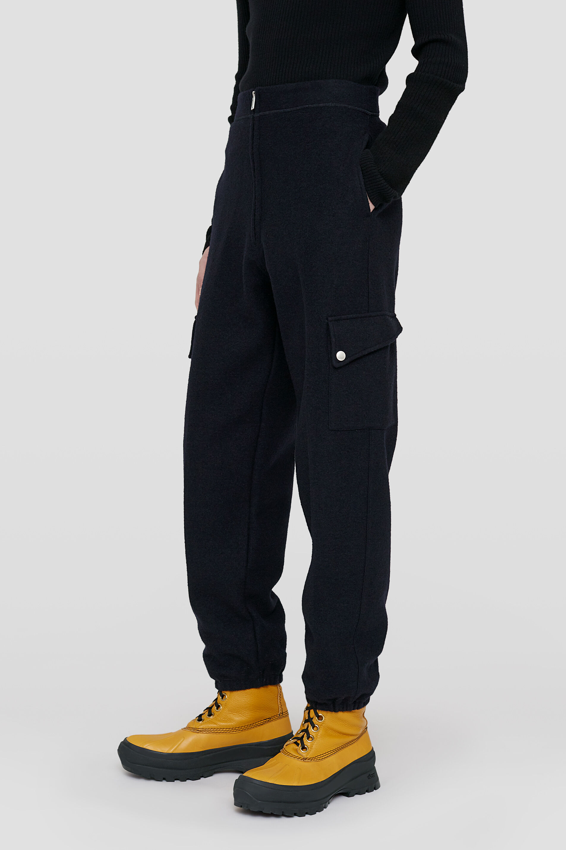 Tapered Trousers, dark blue, large