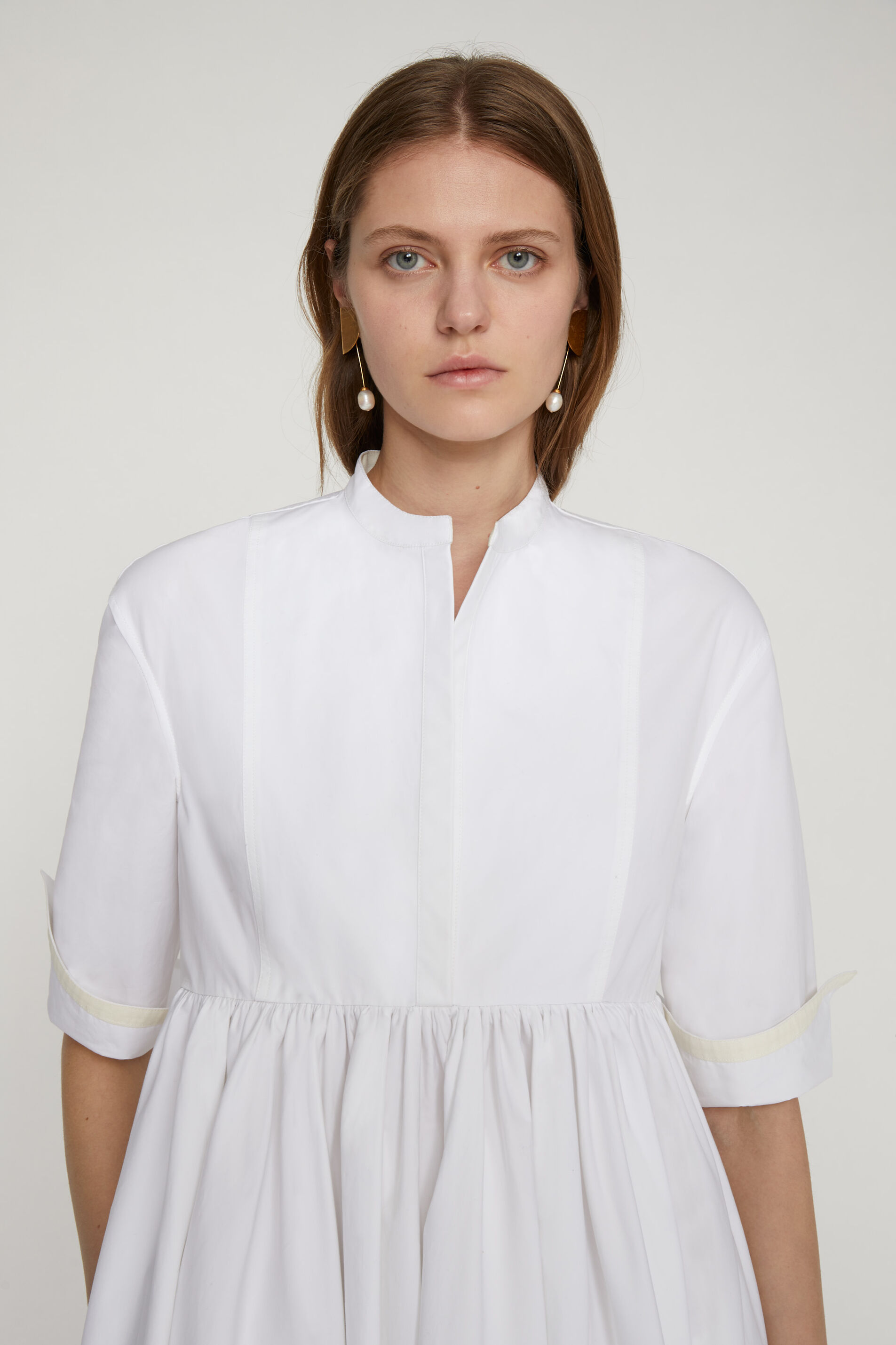 Shirt Dress, white, large