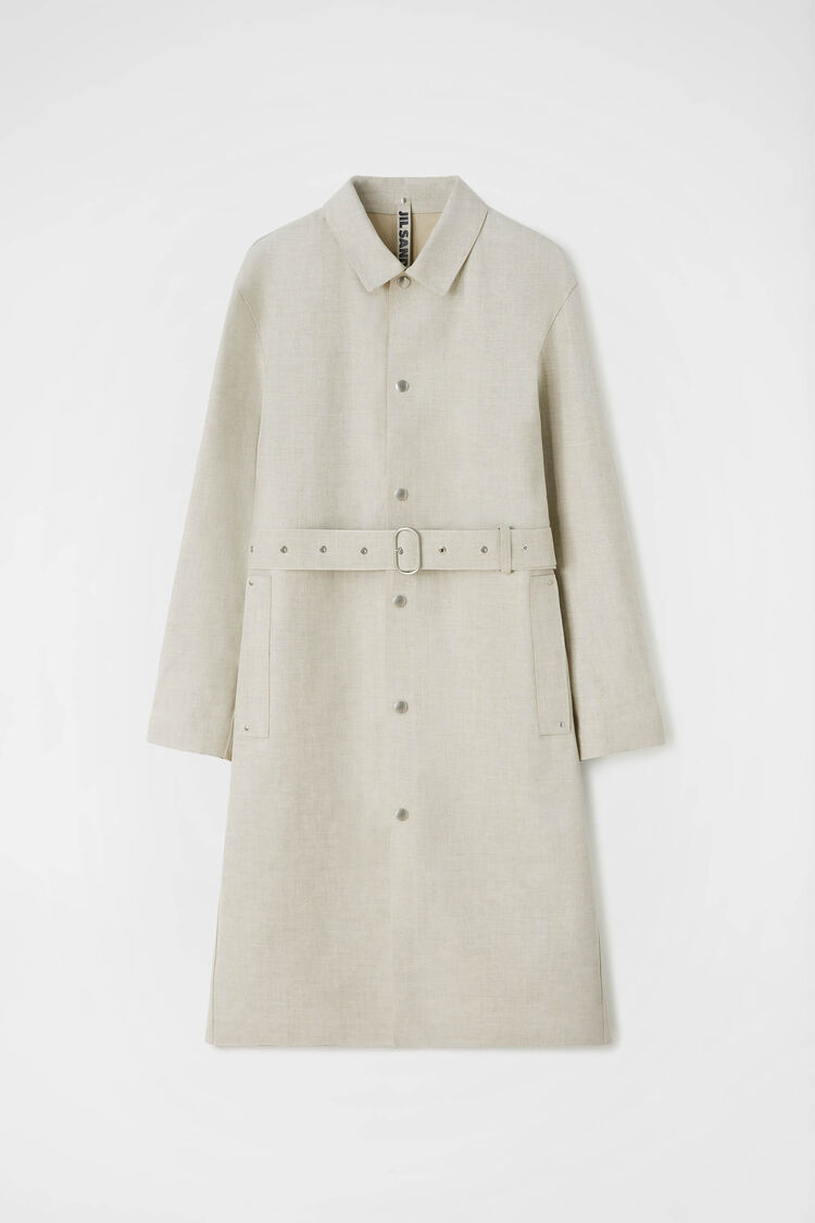 Mackintosh Trench, pastel grey, large