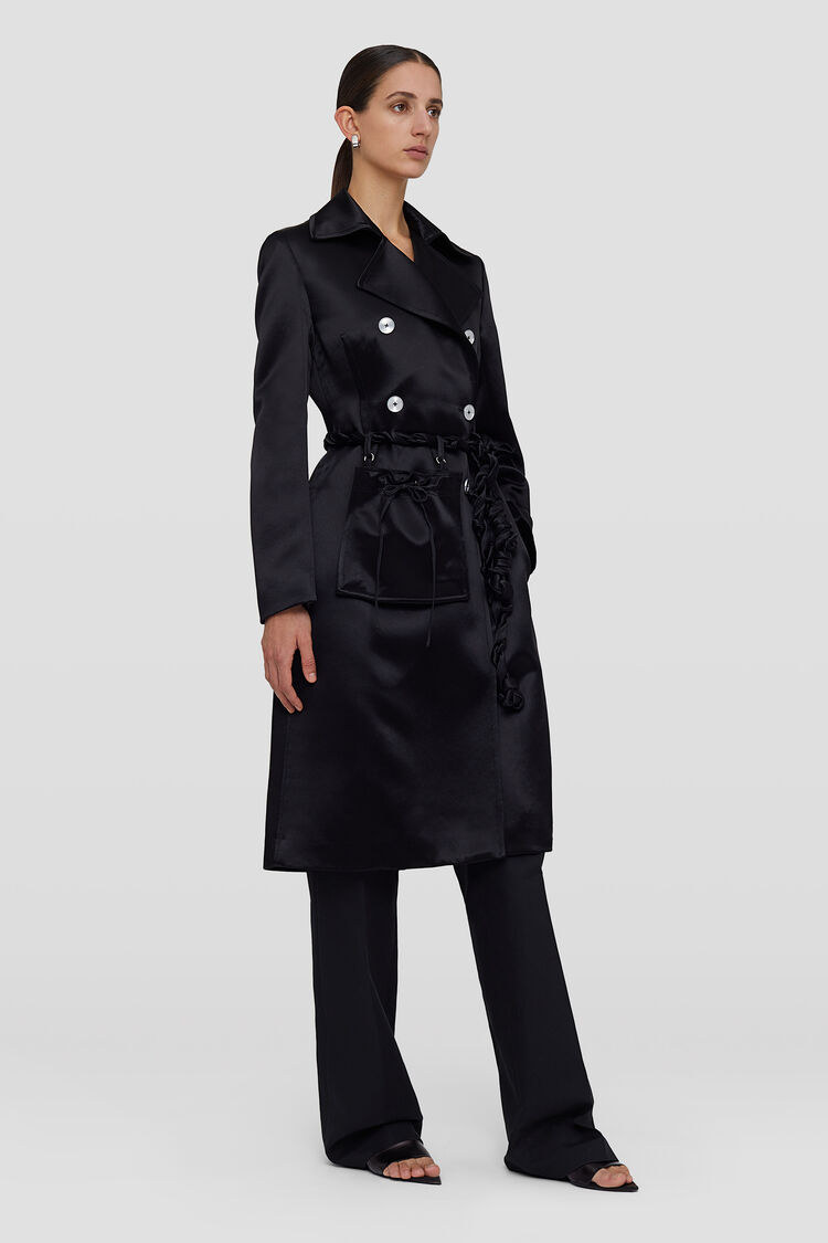 Trench, black, large