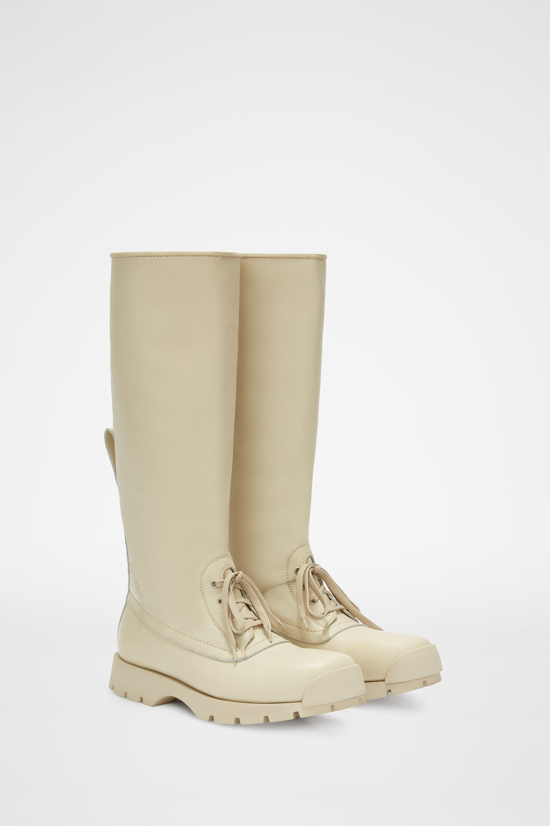 Knee-Boots, natural, large