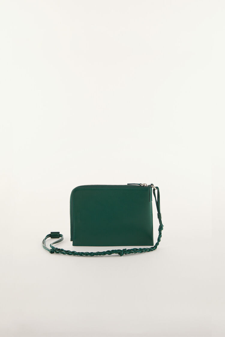 Tangle Passport Holder, dark green, large
