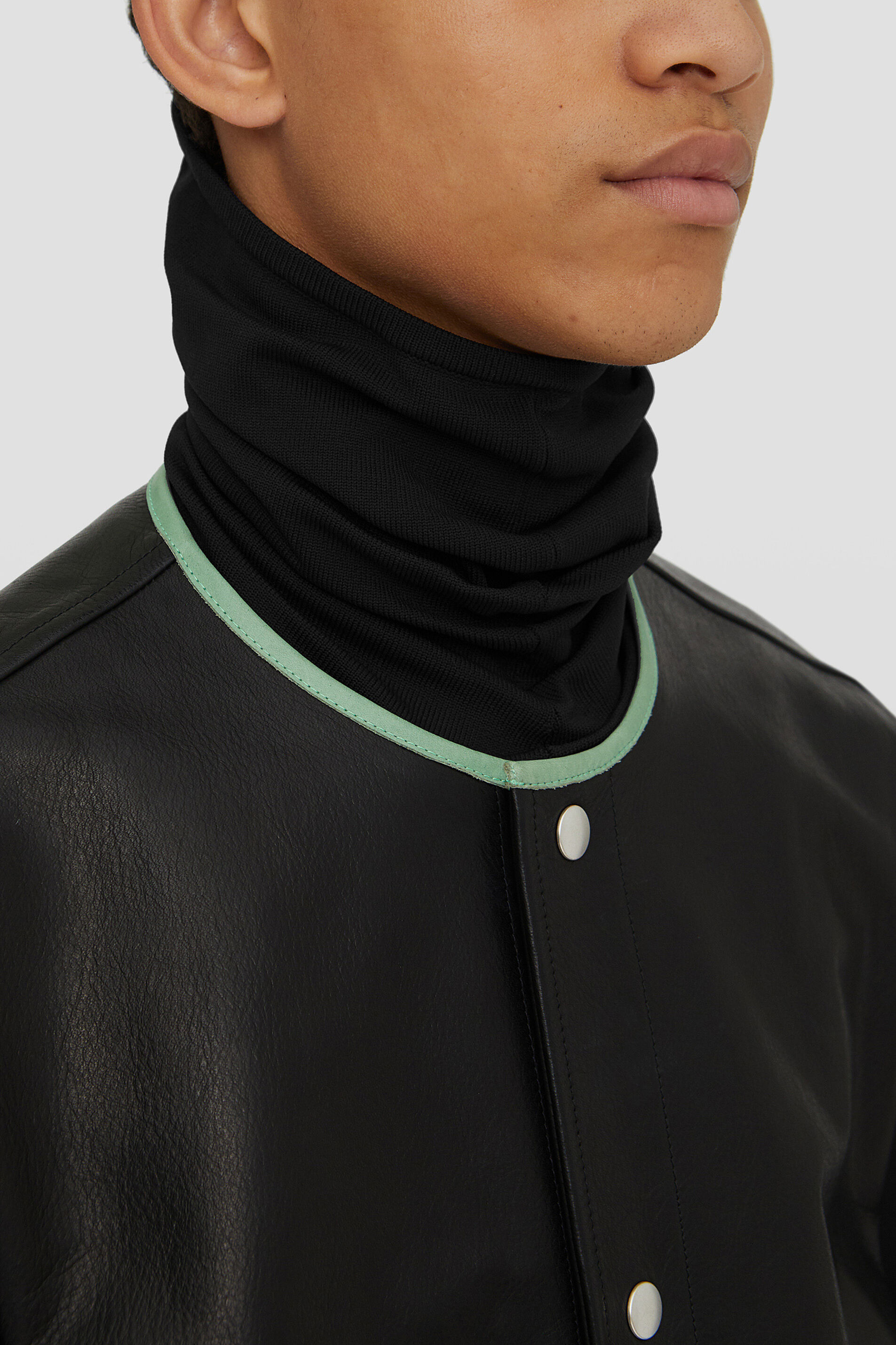 Collar, black, large