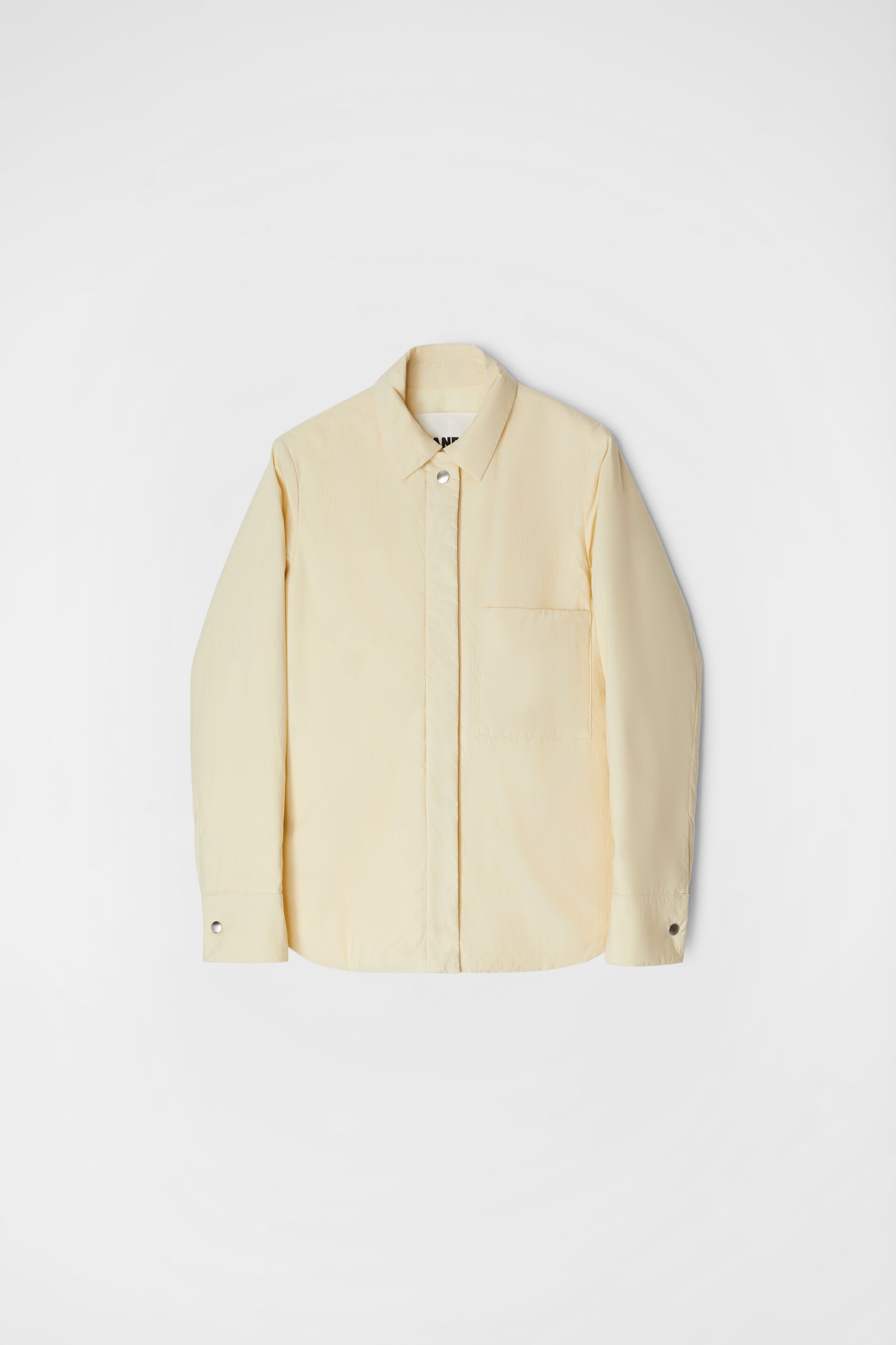 Down Shirt Jacket, beige, large