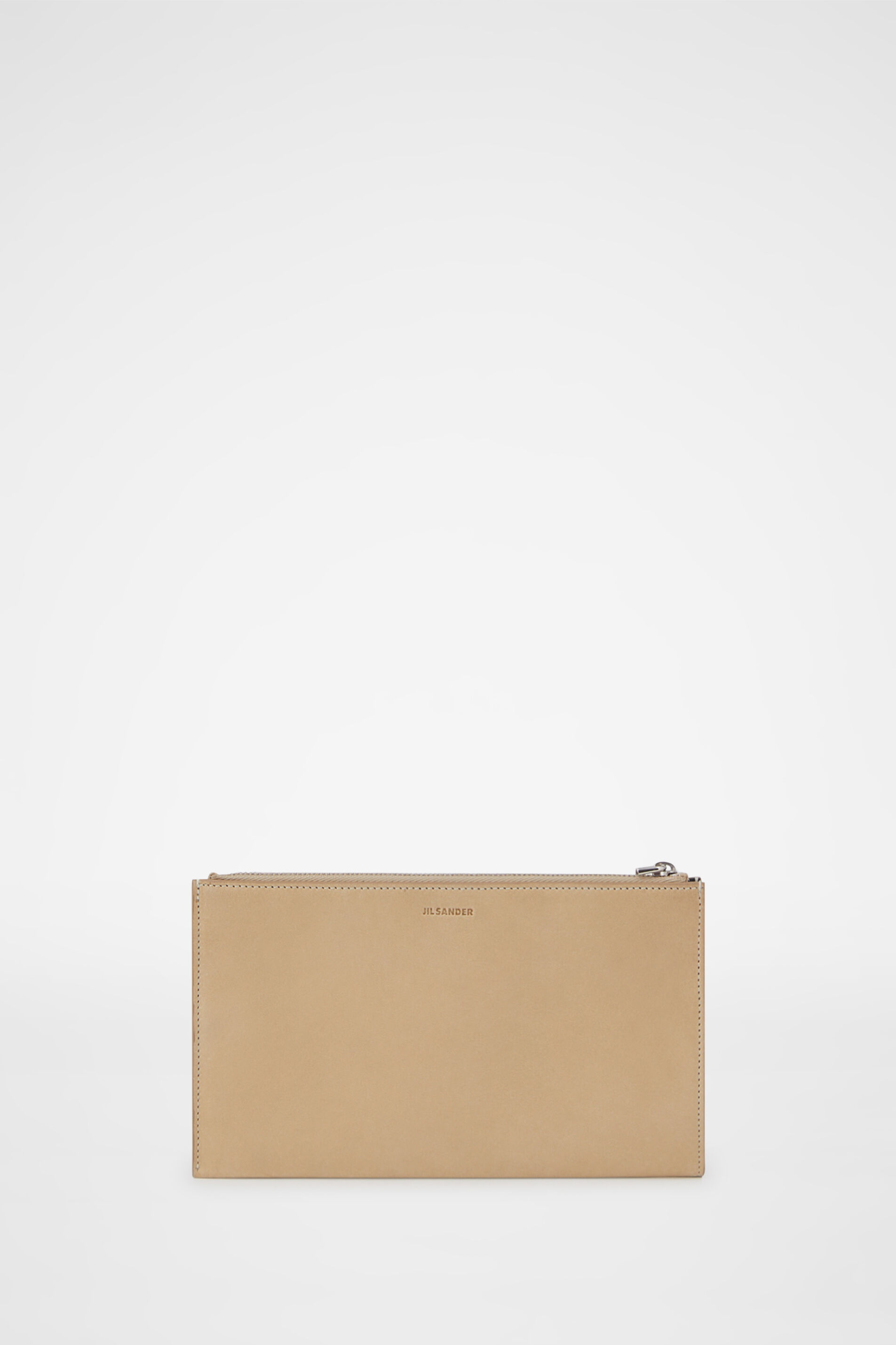 Zip Document Holder, dark beige, large