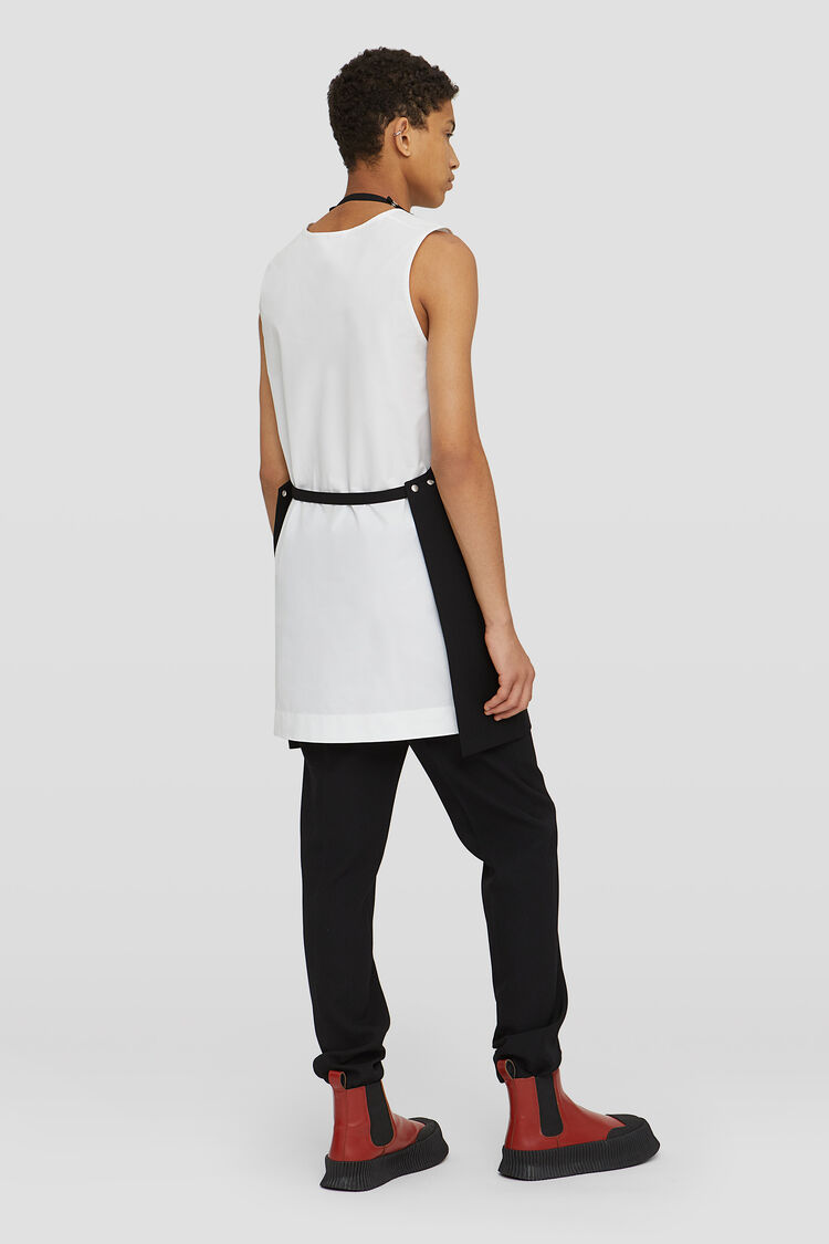 Apron, black, large