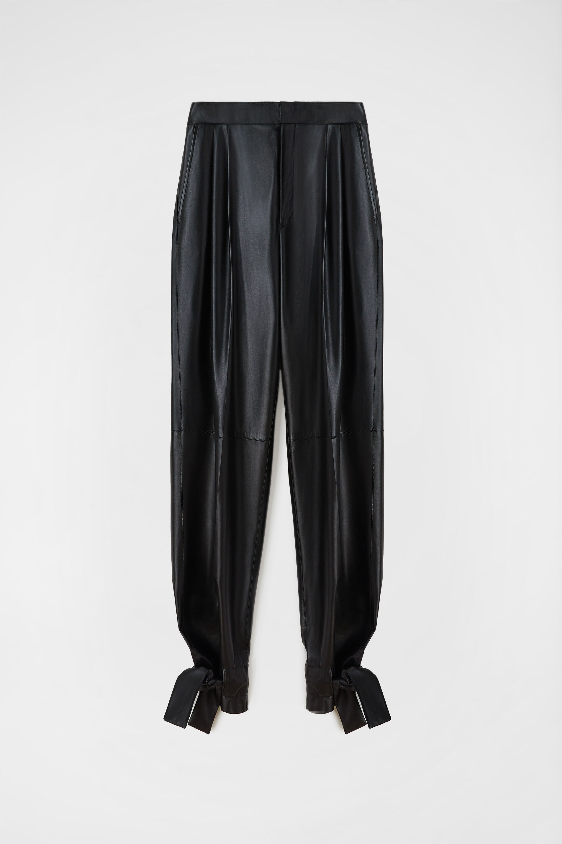Leather Trousers, black, large