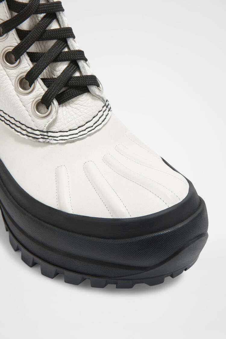 Lace-up Hiking Boots, white, large