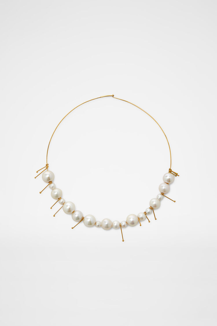 Necklace, natural, large